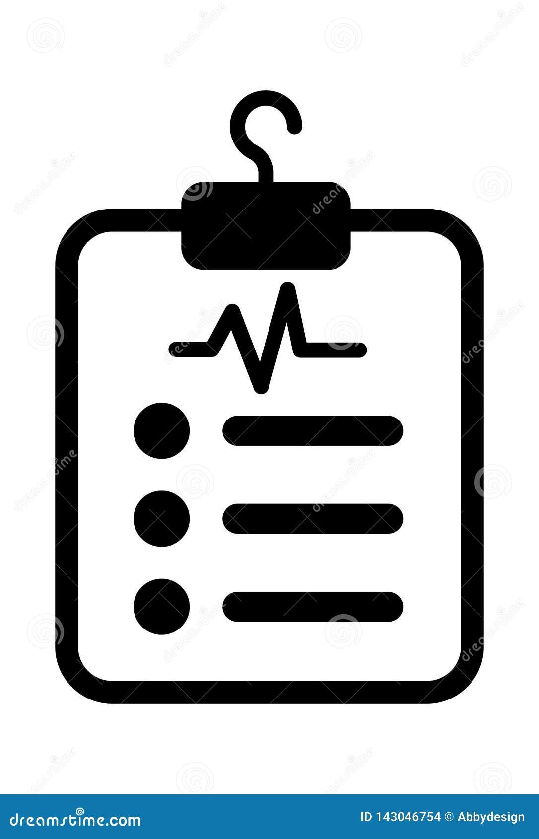 För arksymbol för medicinsk rapport vektor