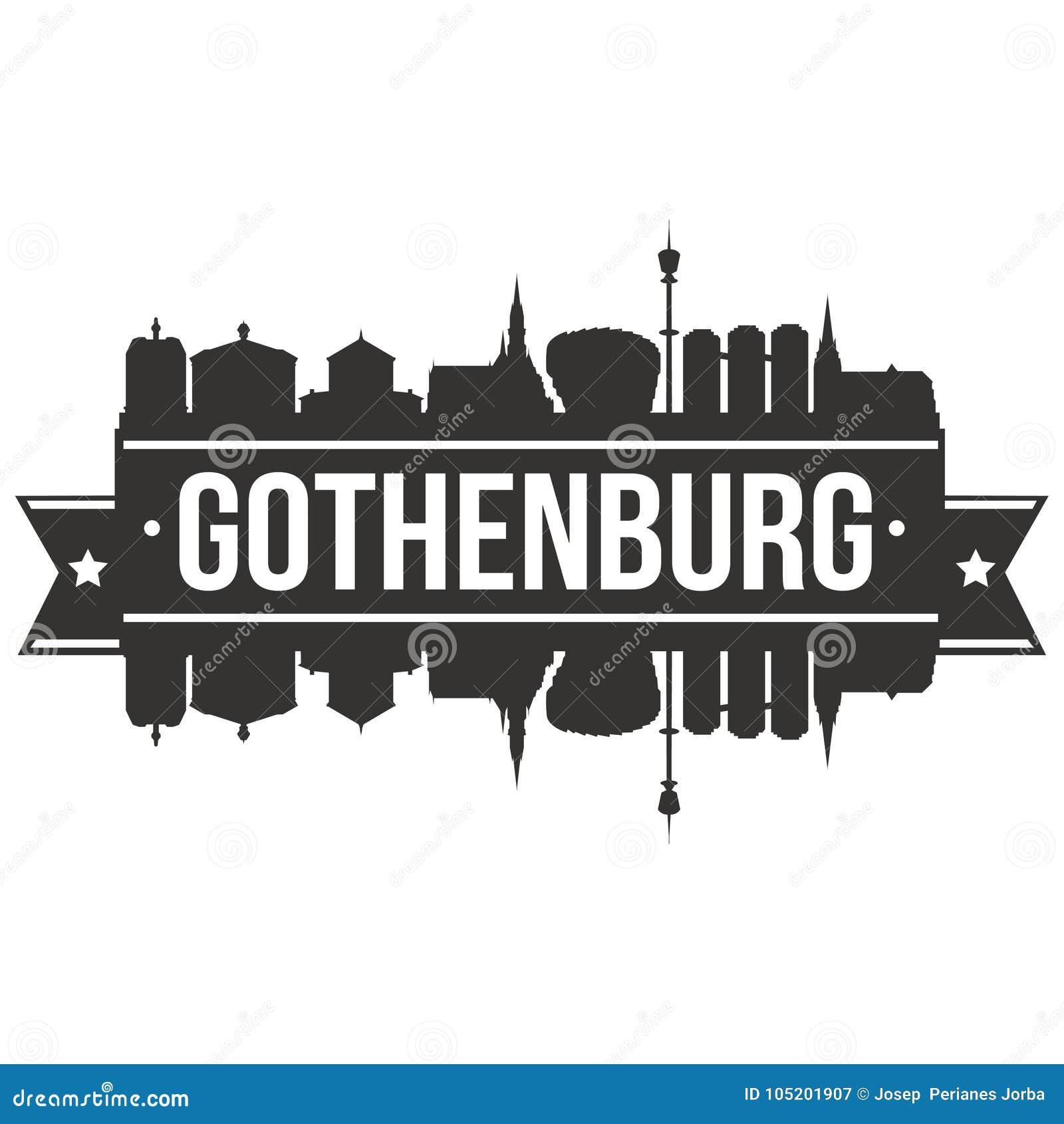 Redigerbar Karta Sverige.For Art Design Skyline Flat City For Vektor For Goteborg Sverige