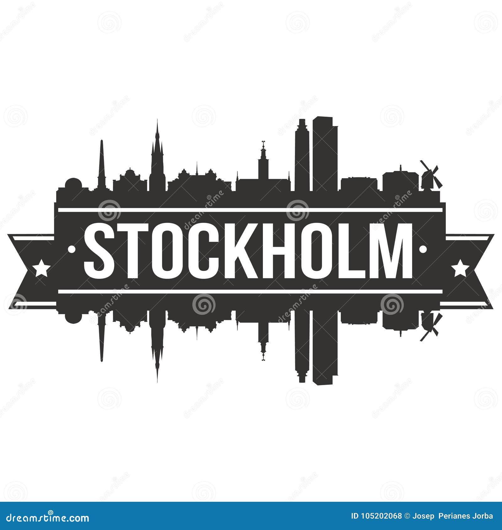 Redigerbar Karta Sverige.For Art Design Skyline Flat City For Vektor For Stockholm Sverige
