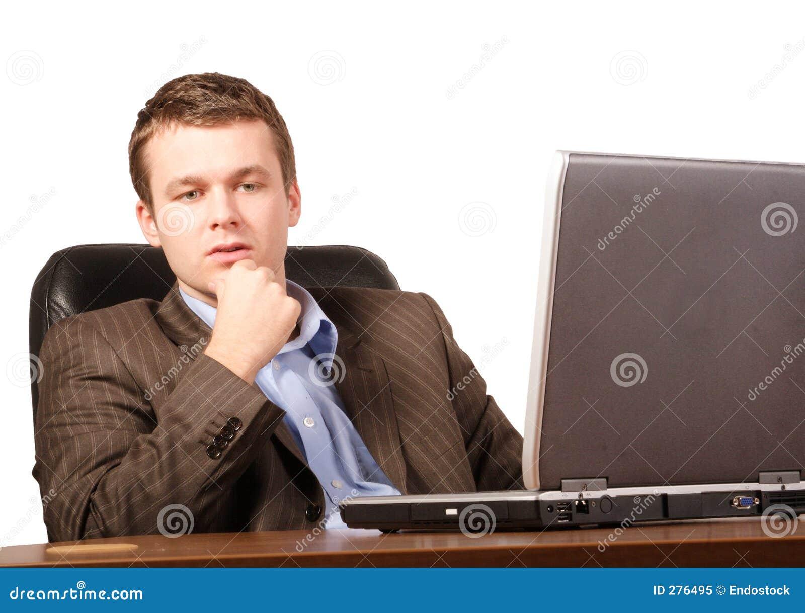 För bärbar datorman för affär tillfälligt smart tänka