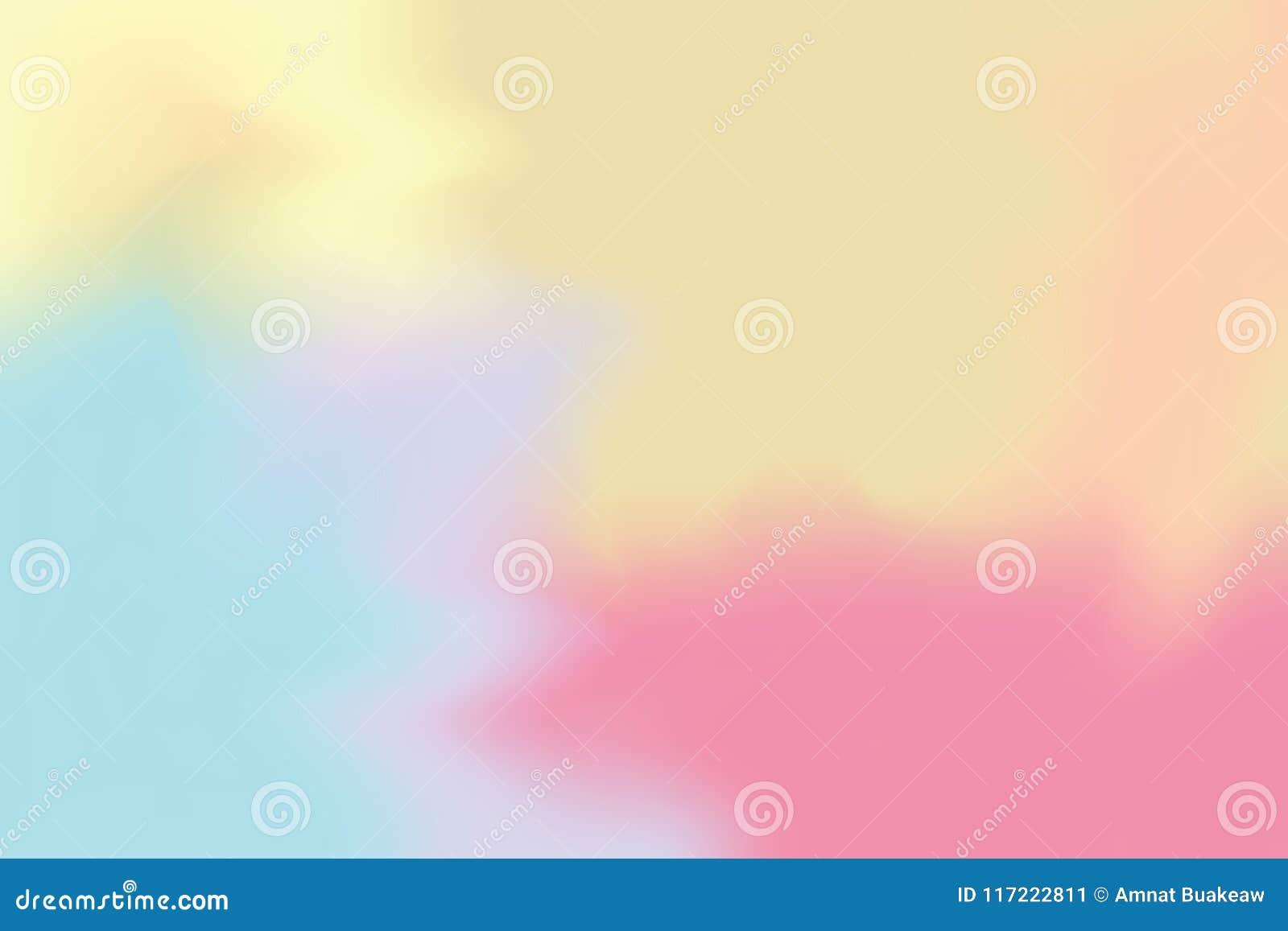 För bakgrundsmålning för blå gul rosa mjuk färg blandat abstrakt begrepp för pastell för konst, färgrik konsttapet