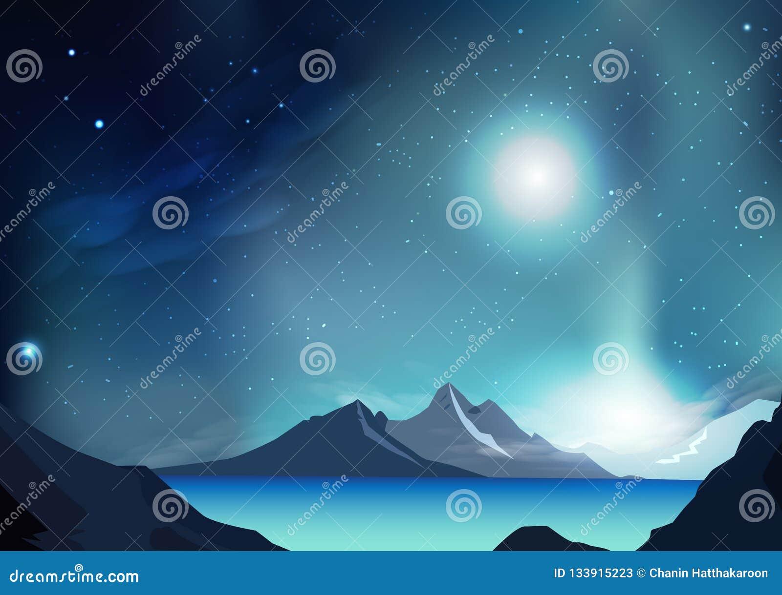 För bakgrundsvektor för fantasi abstrakt illustration med planeten och