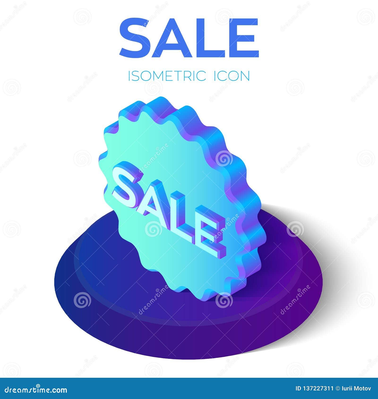 För bandförsäljning för klar illustration röd vektor för etikett Special isometrisk symbol för erbjudandeförsäljningsetikett 3D E