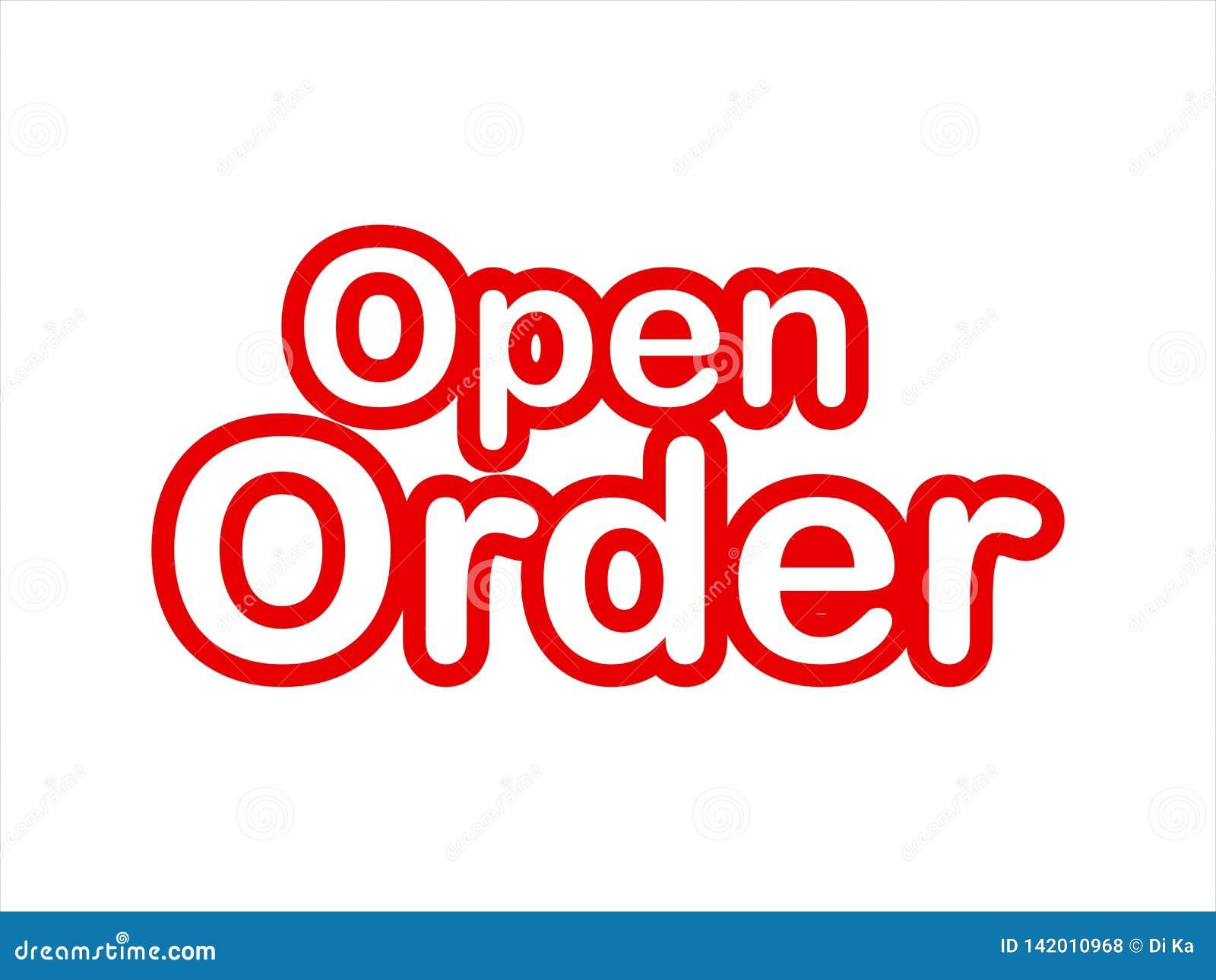För bildmateriel för öppen beställning vektor
