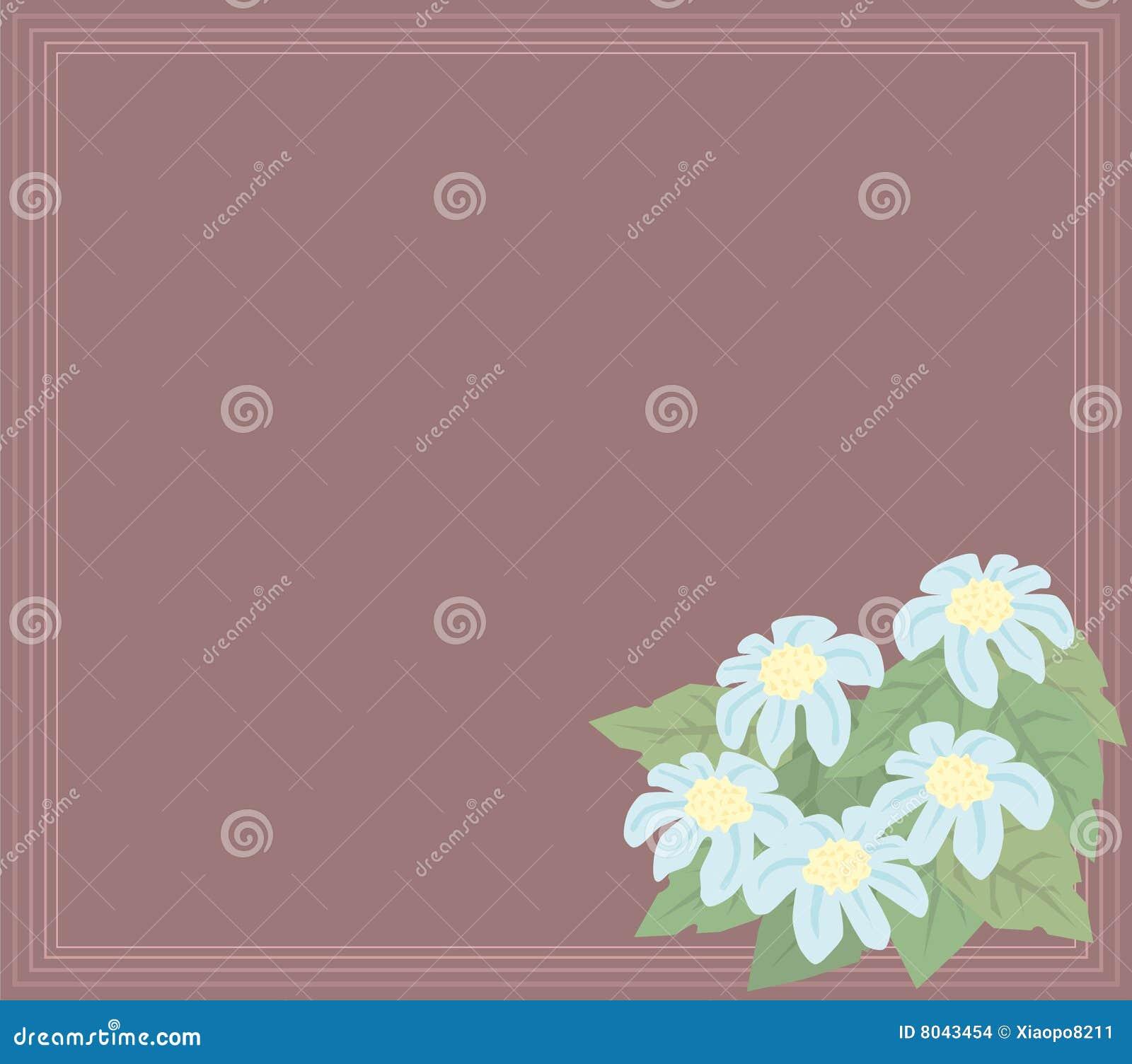 För blommaleaves för baner blå lampa