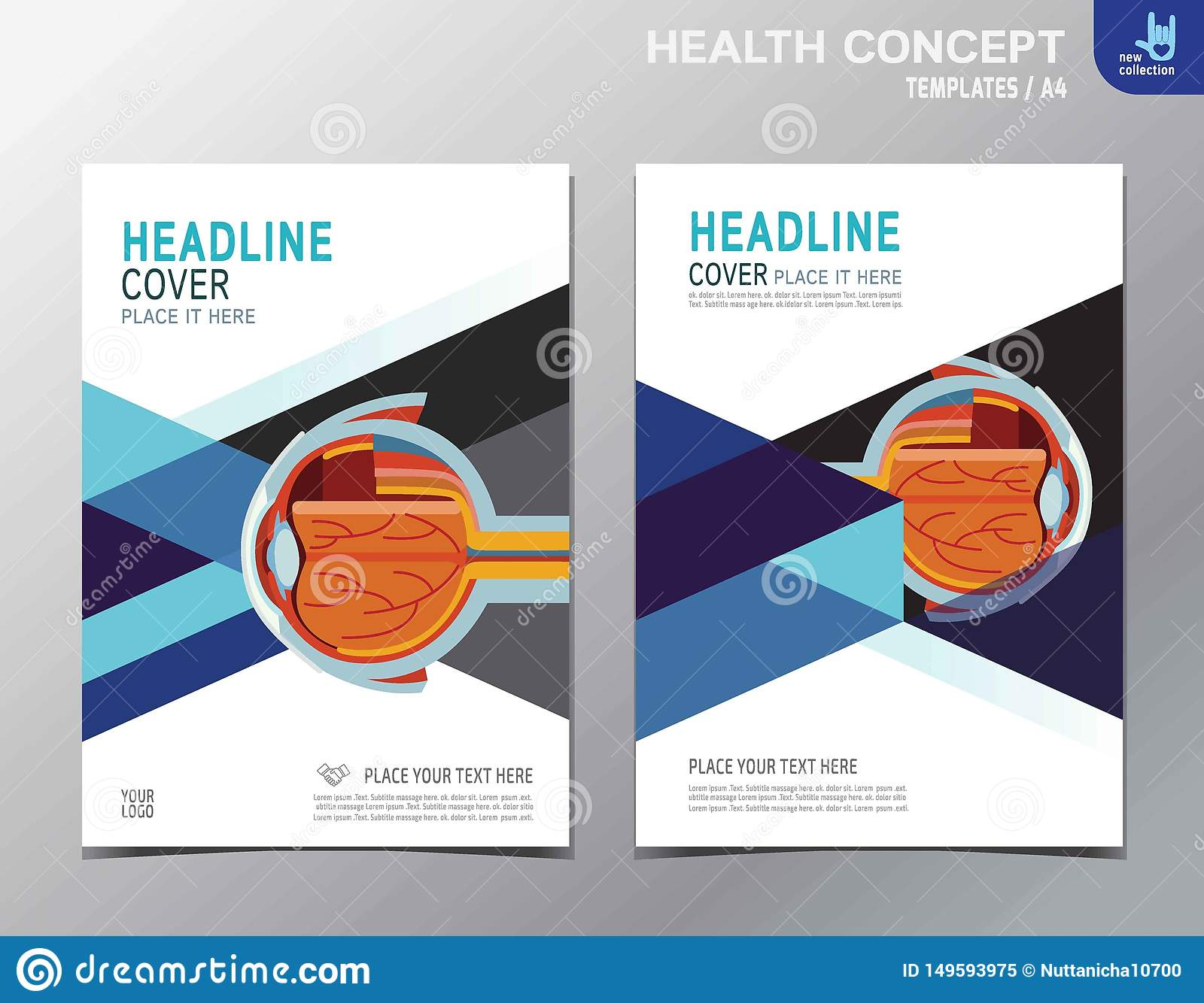 För broschyrbroschyr för reklamblad vård- design för format för mall A4