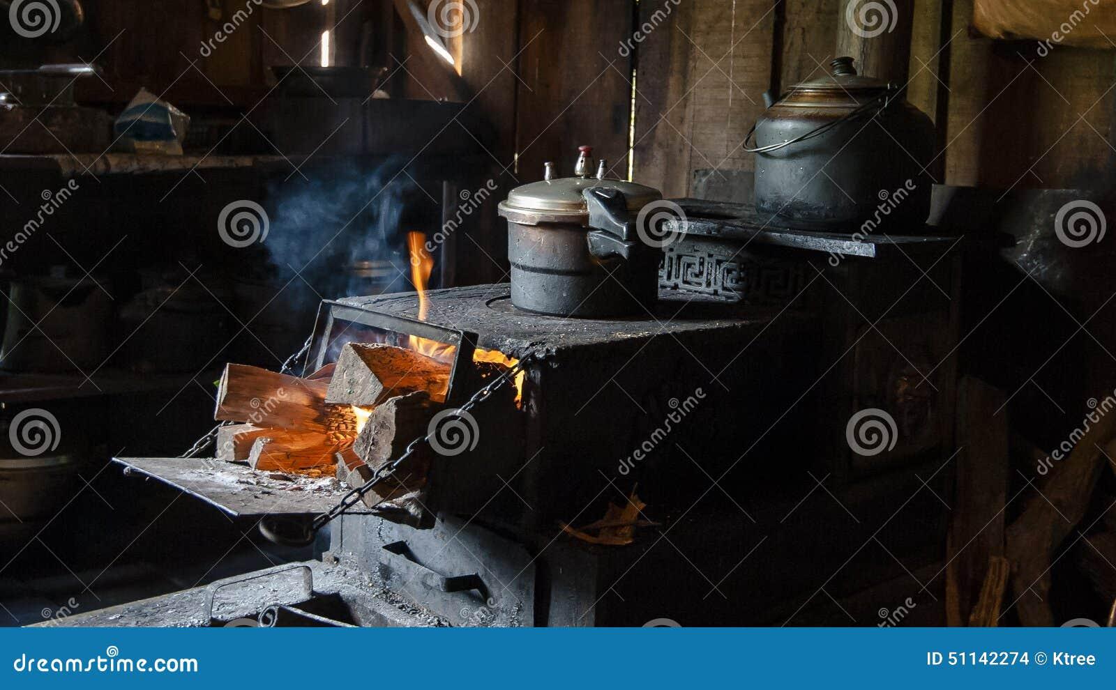 För bygdmatlagning för traditionell kines ugn