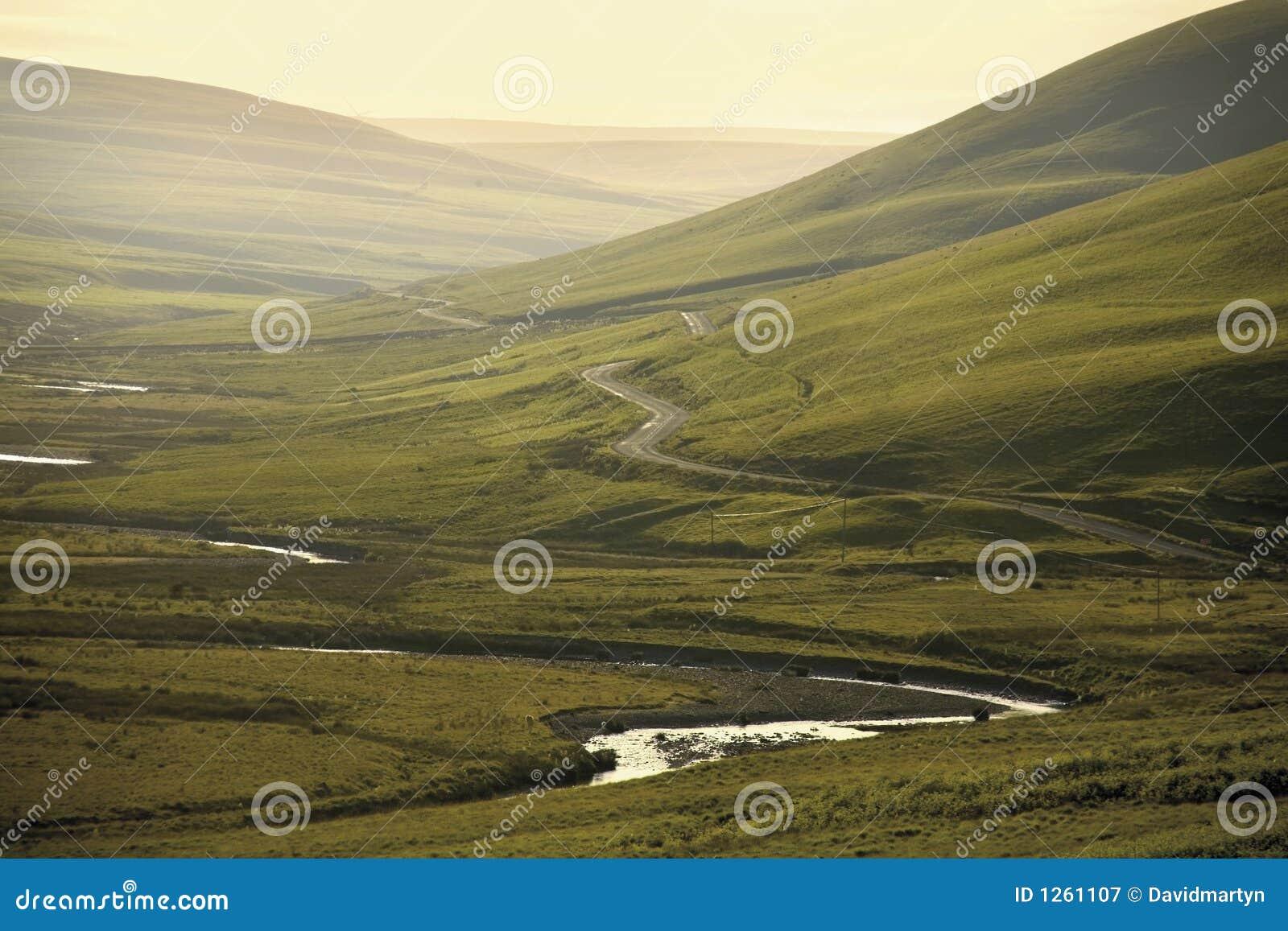 För cambrian naturlig utstående dal elanberg för område b