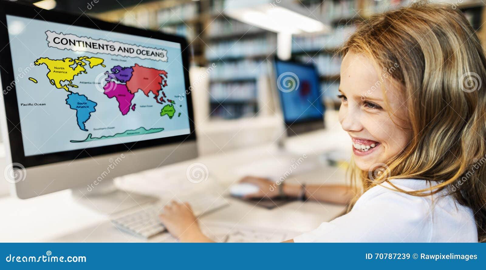 För Childern för akademisk skola begrepp E-lärande geografi
