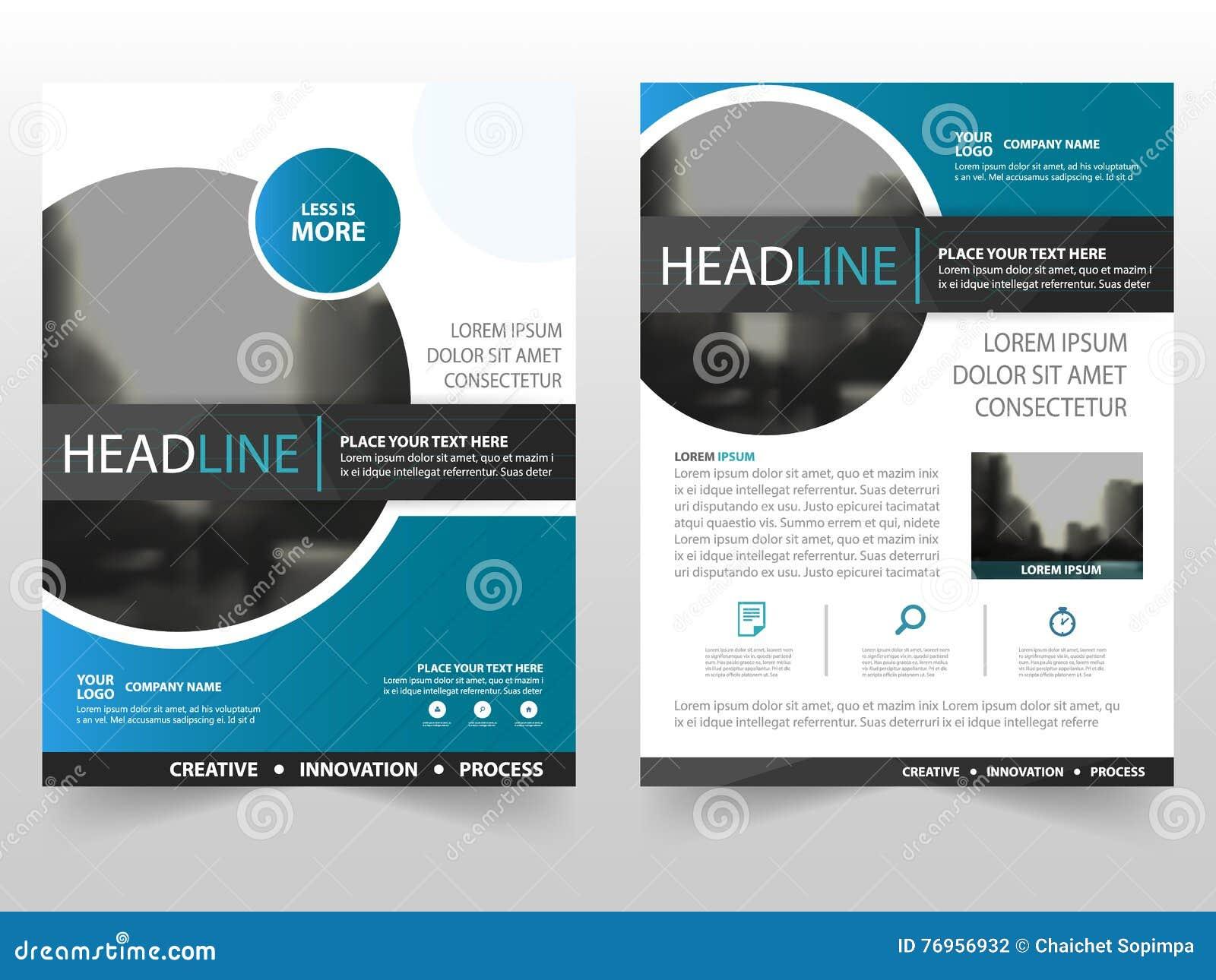 För cirkelaffär för blå svart design för mall för årsrapport för reklamblad för broschyr för broschyr, bokomslagorienteringsdesig