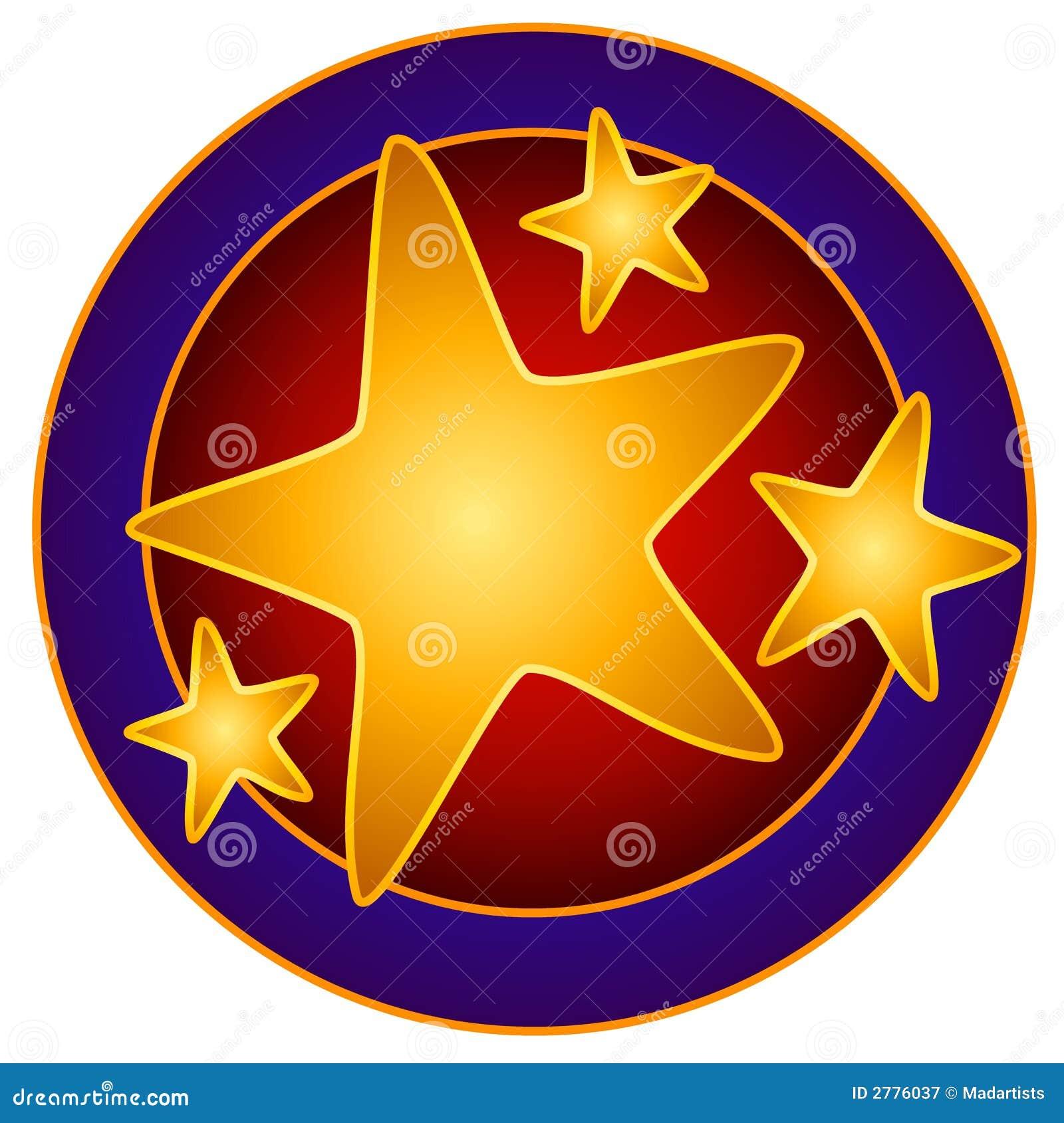 För cirkelgem för konst ljusa stjärnor