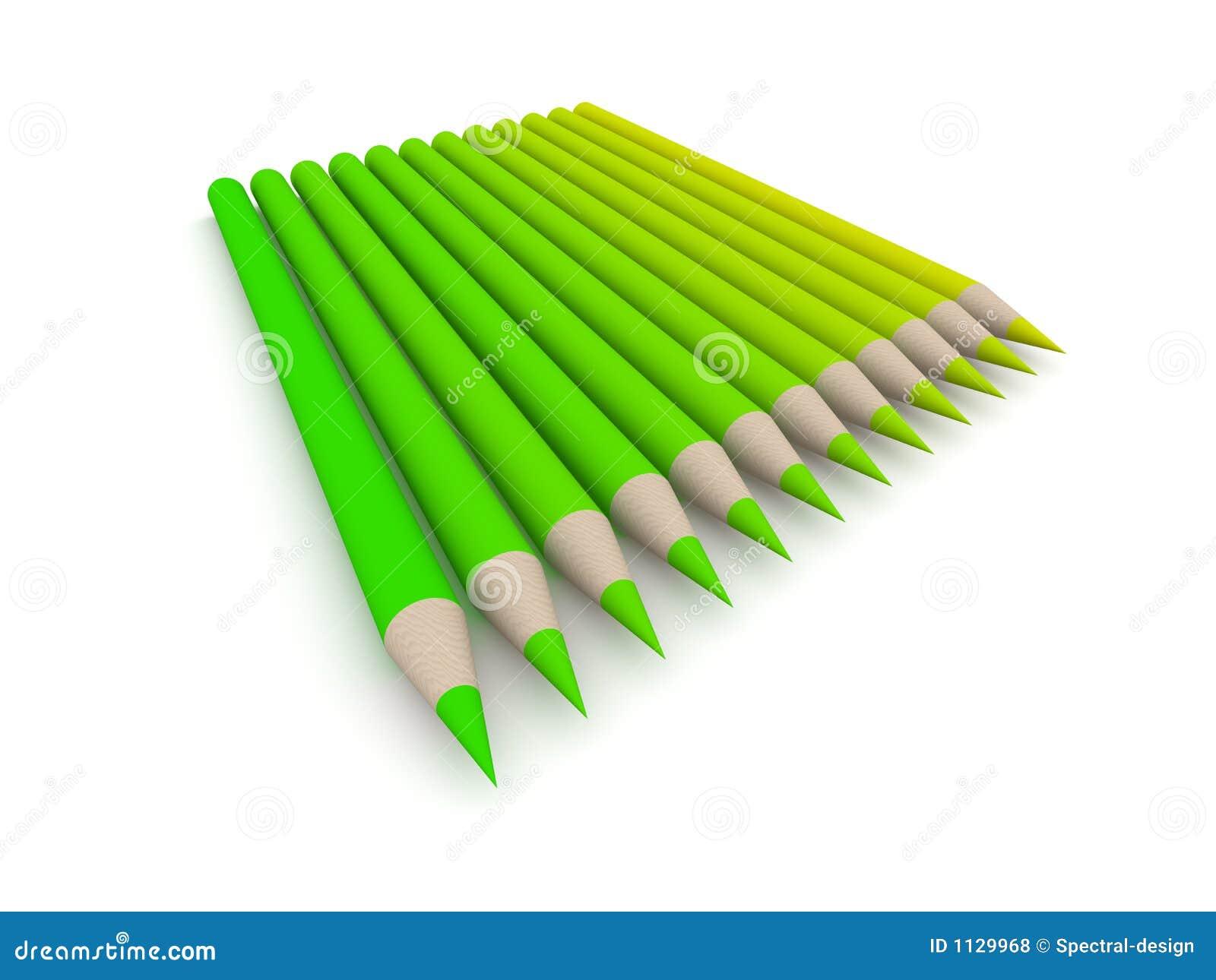 För crayongreen för 2 färg spectrum