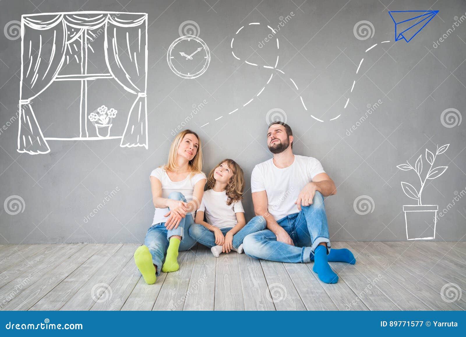 För daghus för familj nytt hem- rörande begrepp