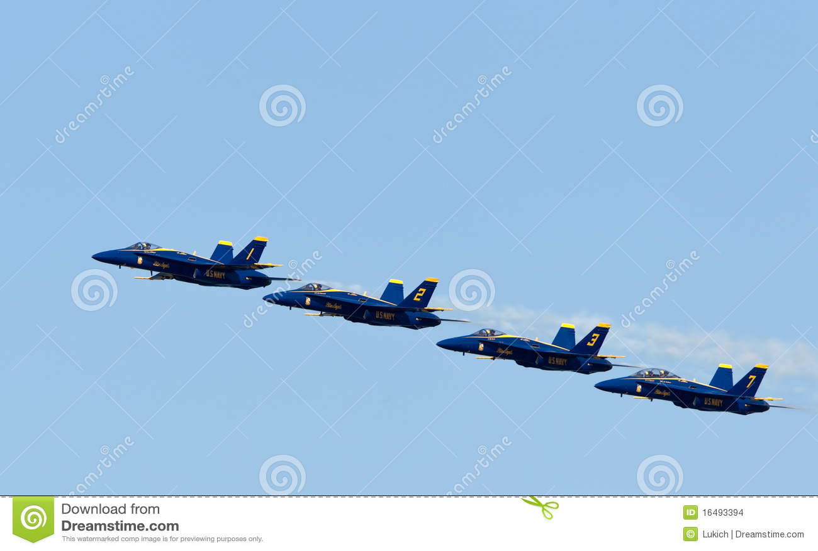 För demonstrationsmarin för änglar blå skvadron oss