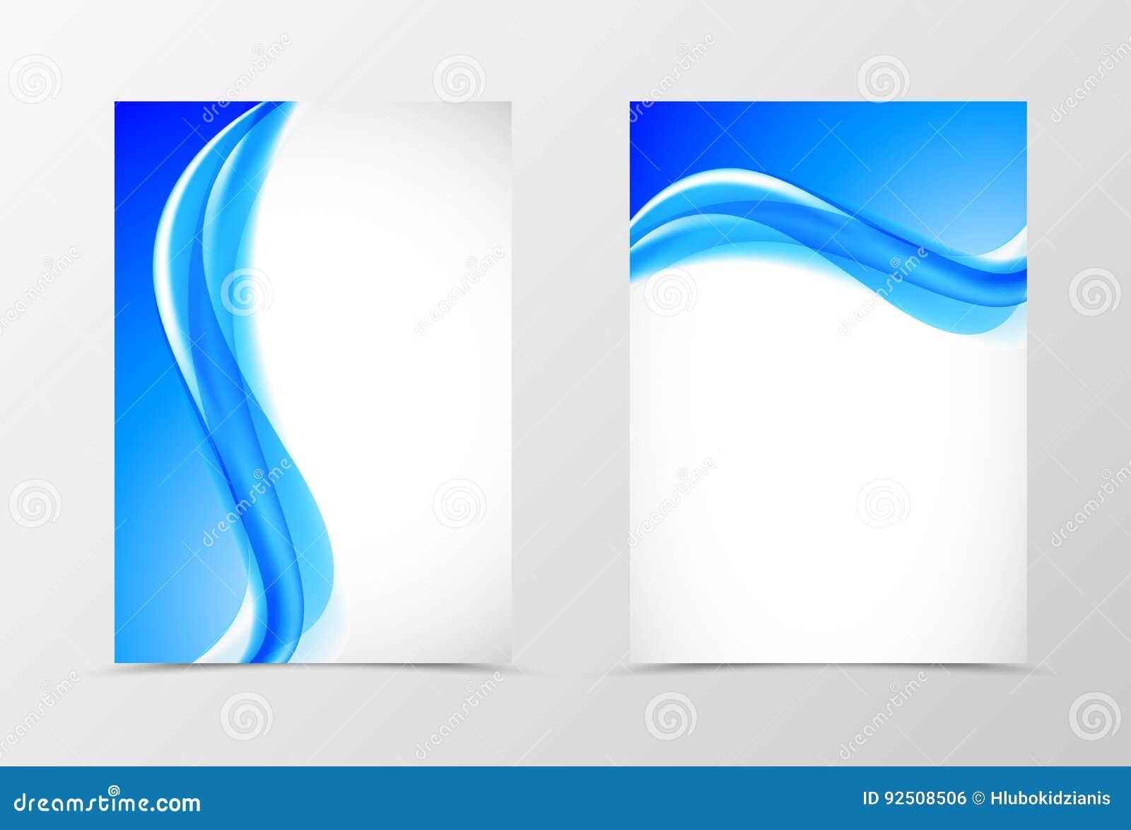 För designreklamblad för framdel och för baksida dynamisk mall