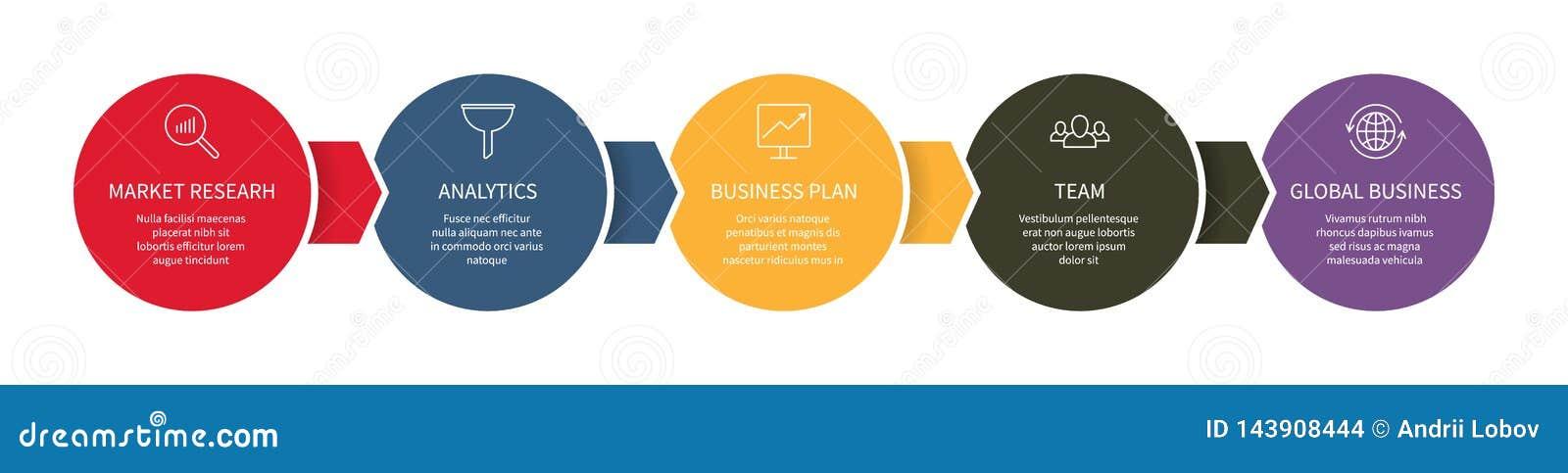 För diagramdesign för Timeline infographic information om alternativ för diagram för mall för graf för affär för data för kontrol