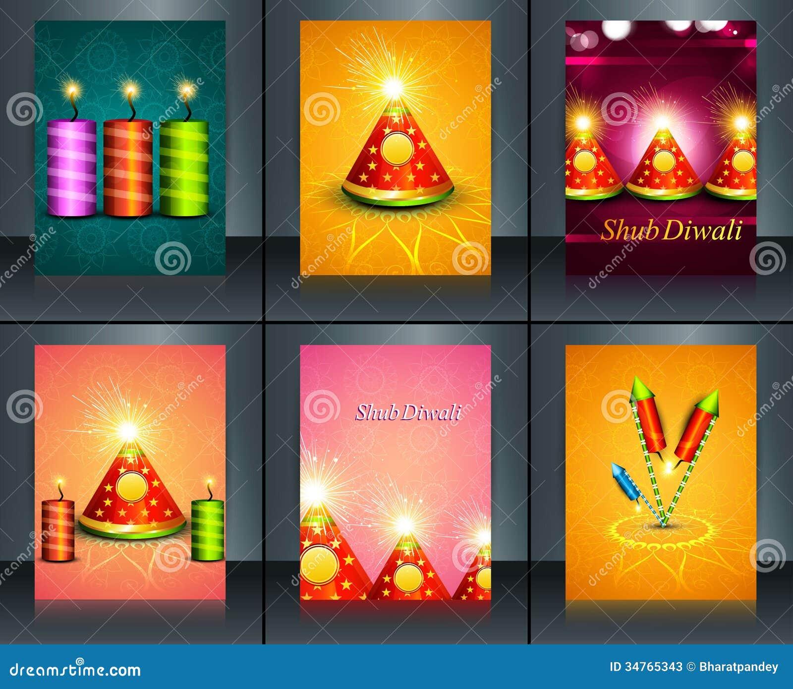 För Diwali för härlig garnering lyckliga smällare för festival diya