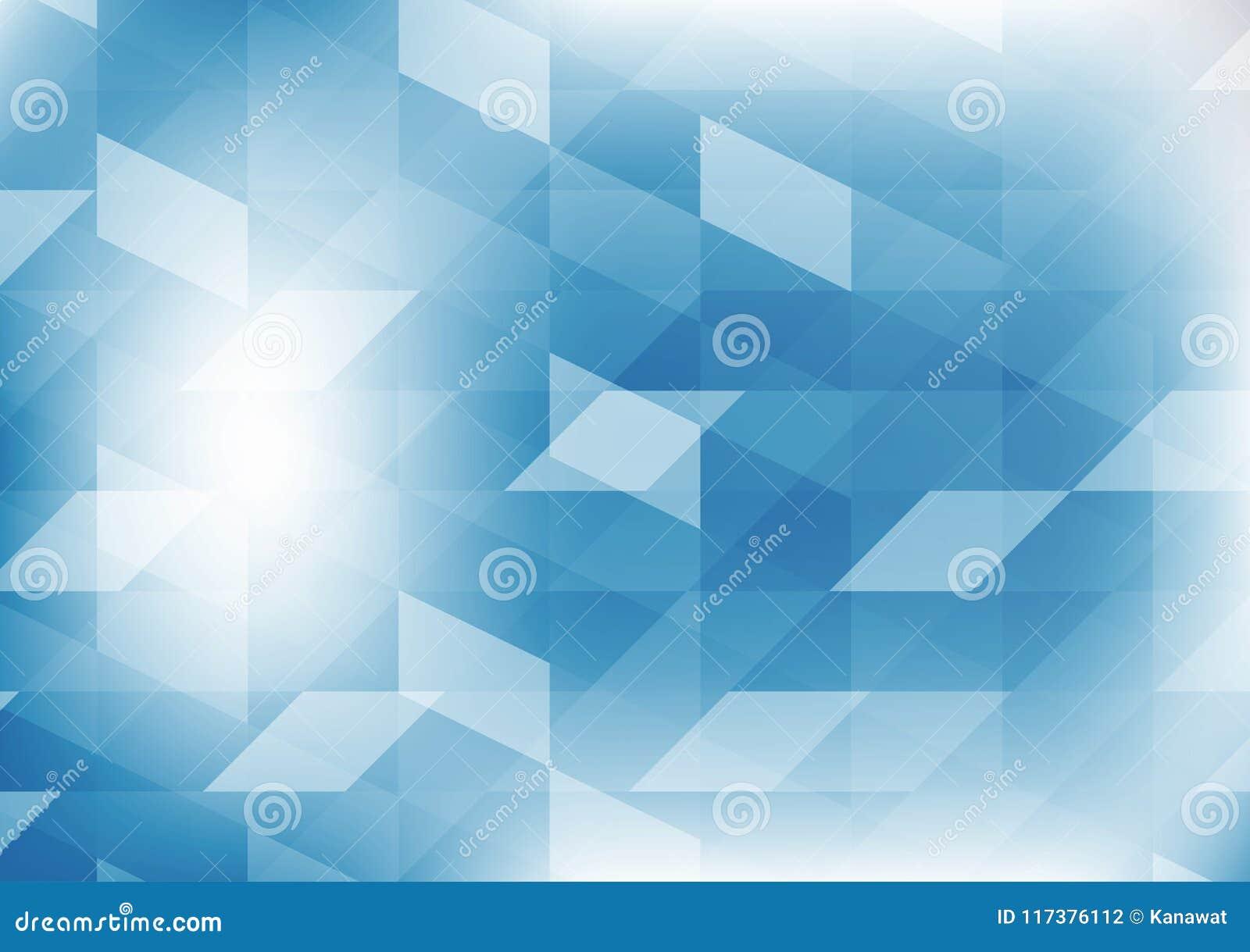 För färgillustration för vektor geometrisk blå bakgrund för abstrakt begrepp för diagram Vektorpolygondesign för din affär