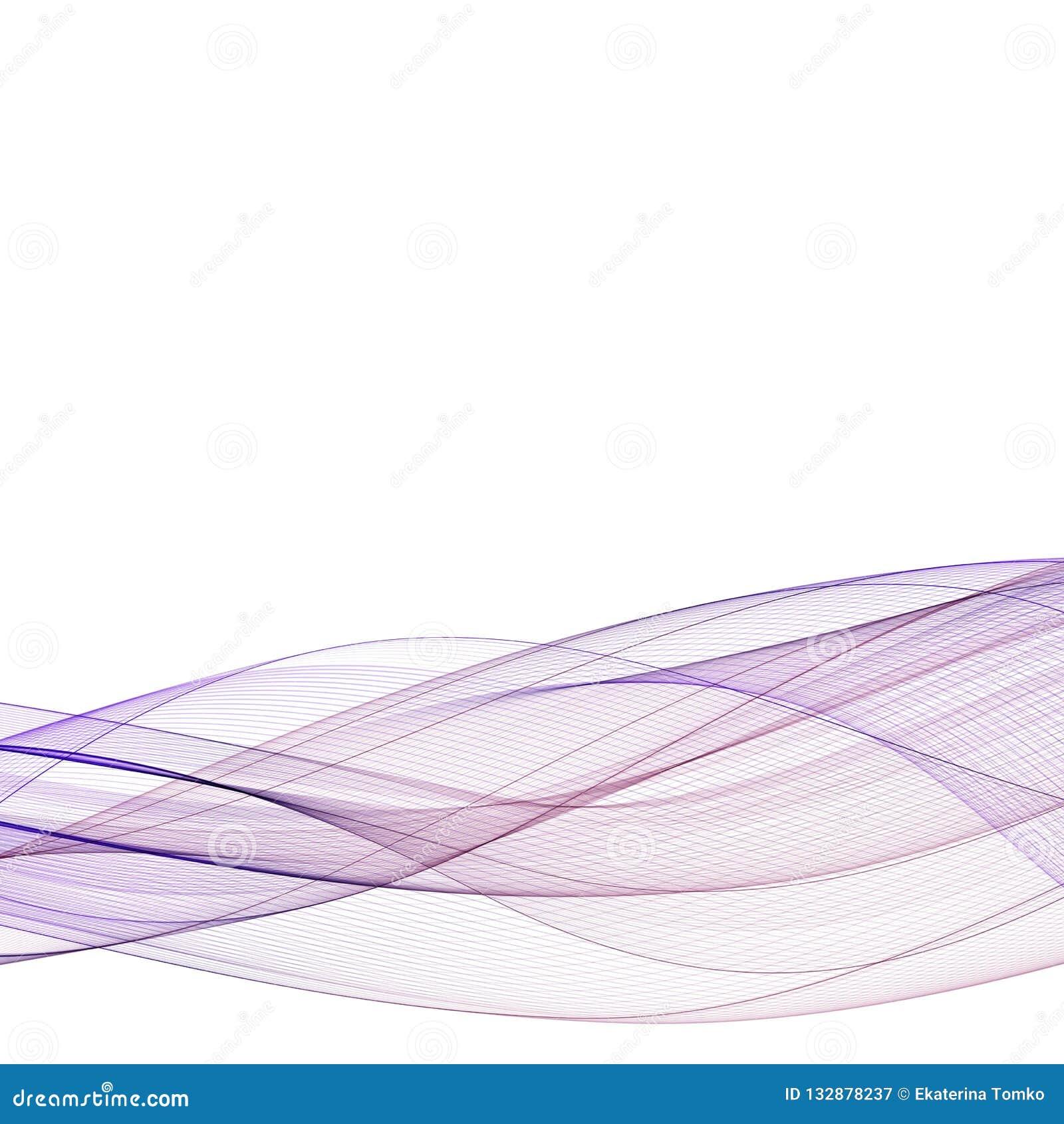 För färgvåg för abstrakt rörelse slät vektor Purpurfärgade linjer för kurva 10 eps