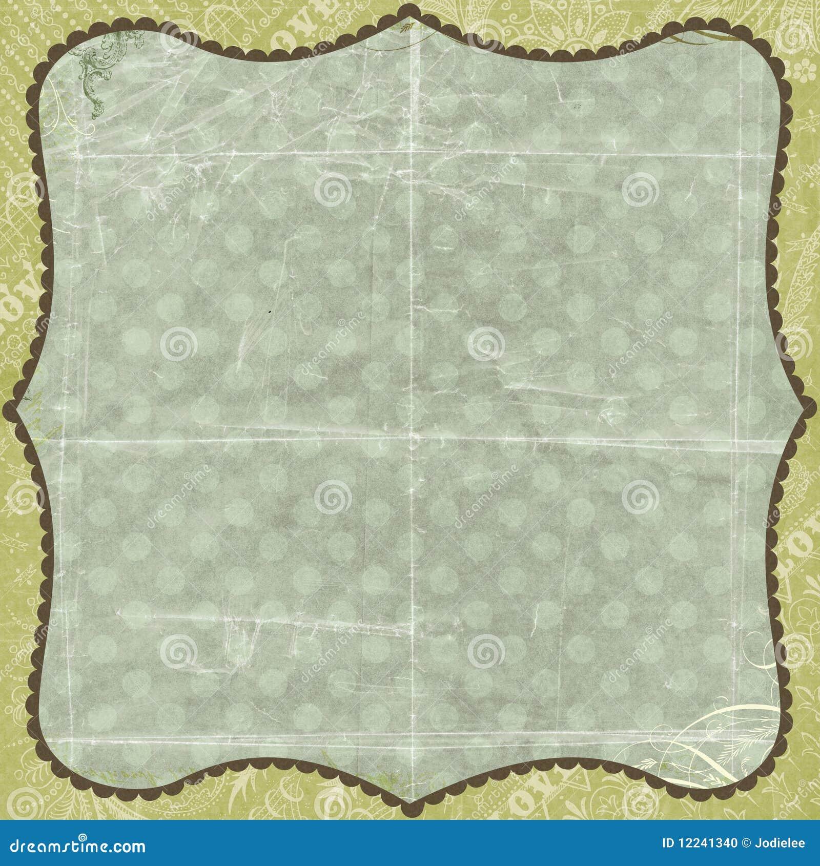 För förälskelsepapper för bakgrund blom- grön scrapbook