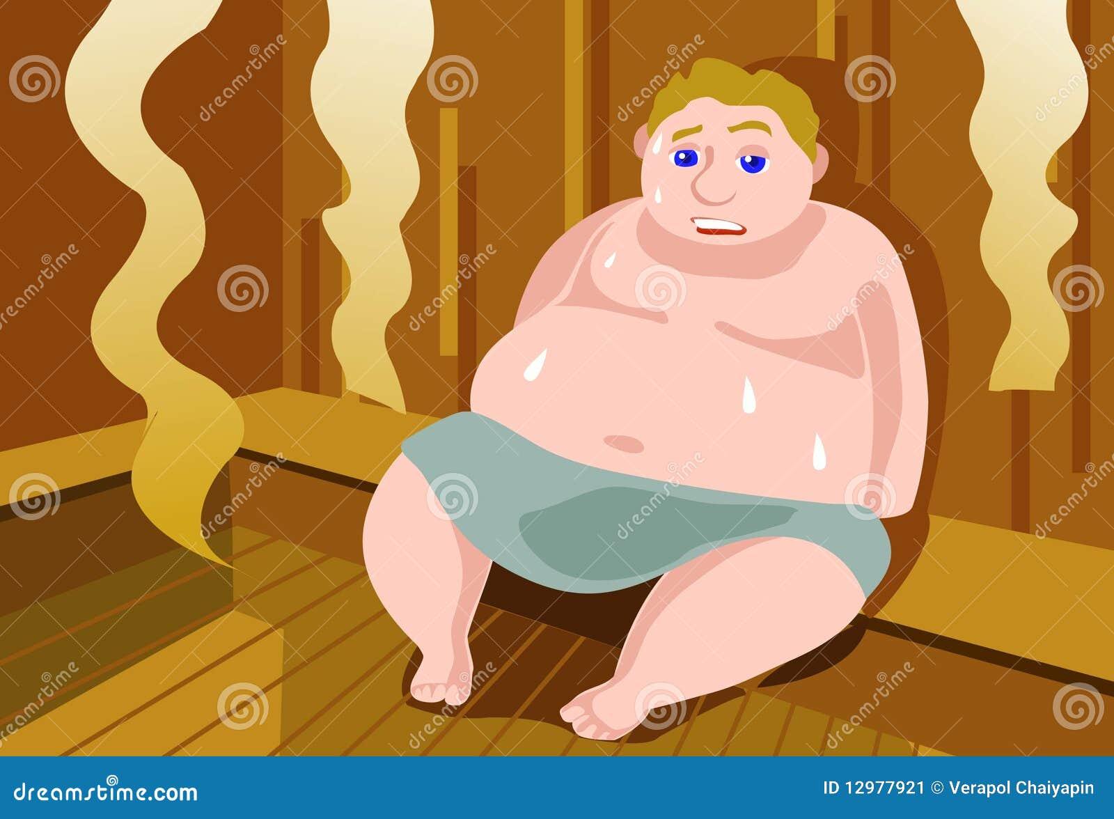 För fett svettas för bastu ut