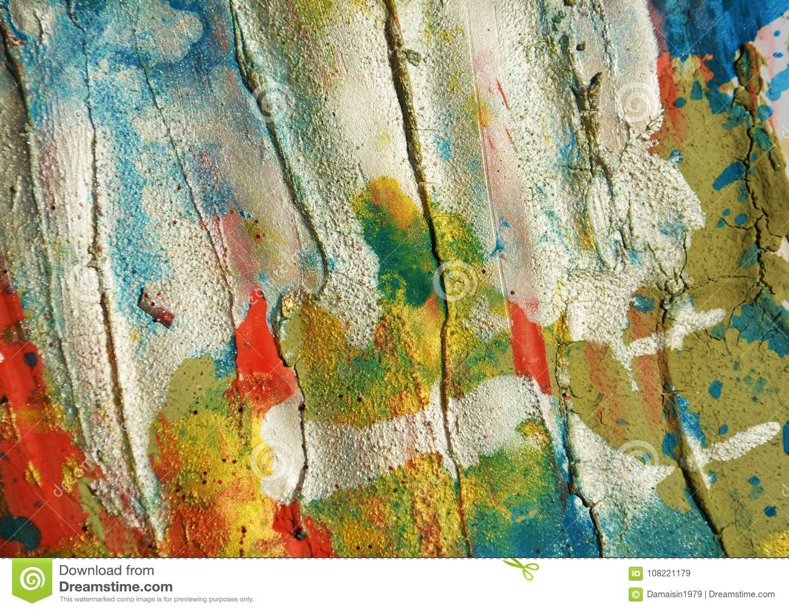 För fläckbakgrund och borste för vit silver för blå röd pastellfärgad vaxartad slaglängder, toner, fläckar