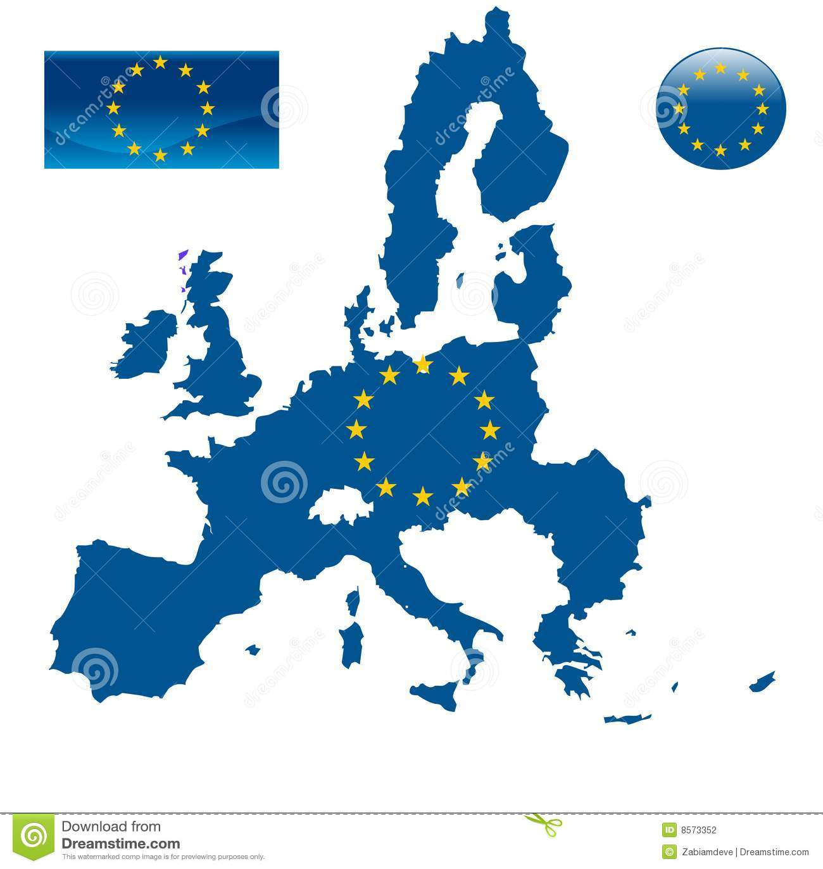 För flaggaöversikt för e. - europeisk union