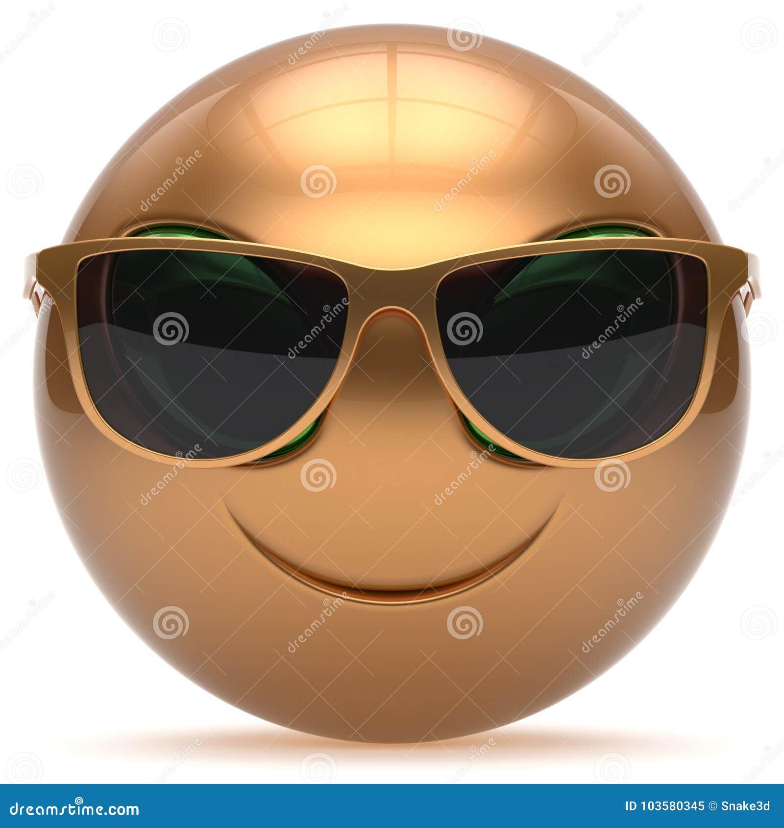 För Främmande Head Den Gulliga Solglasögon Framsidatecknad