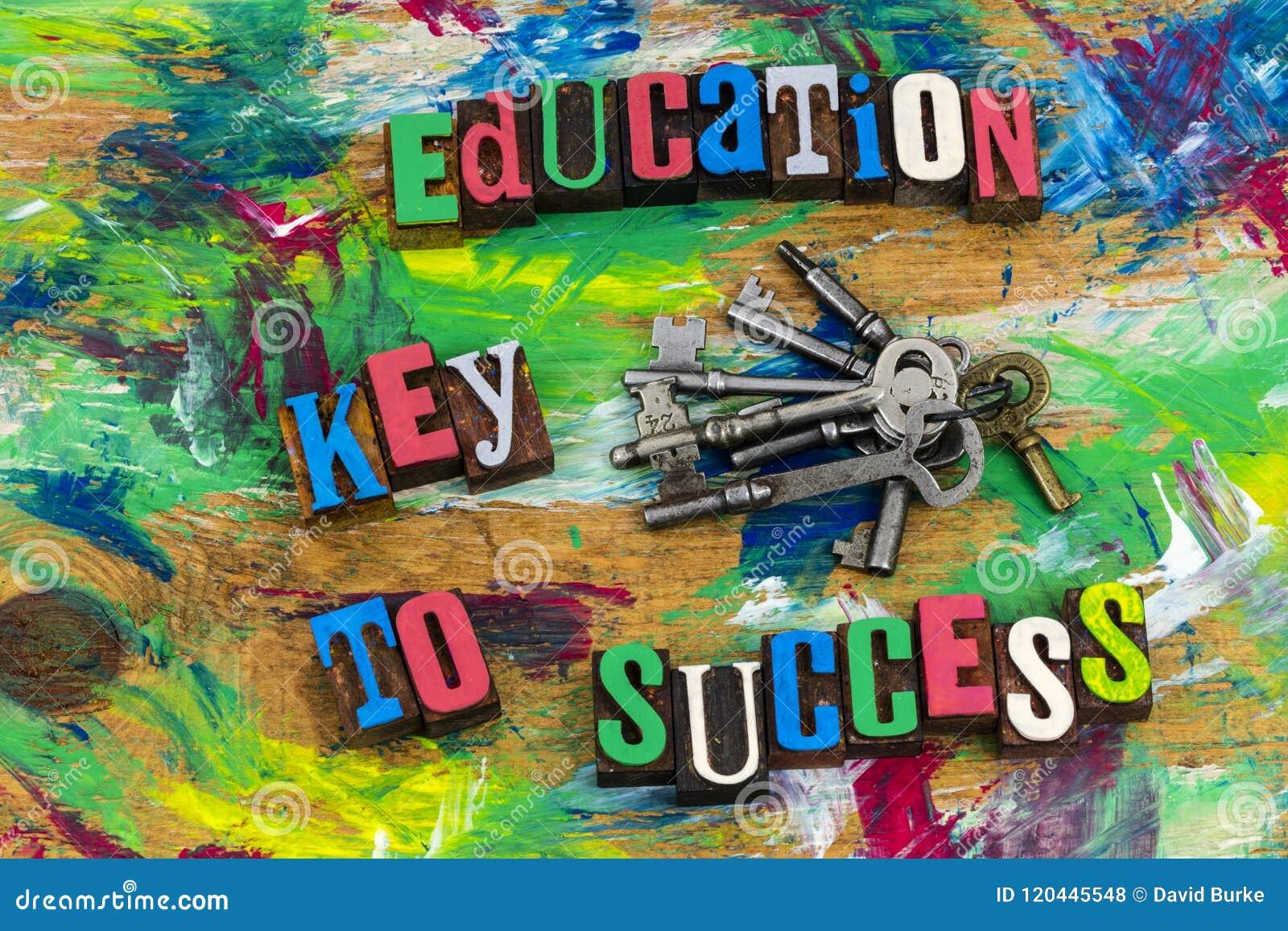 För framgångkunskap för utbildning nyckel- karriär