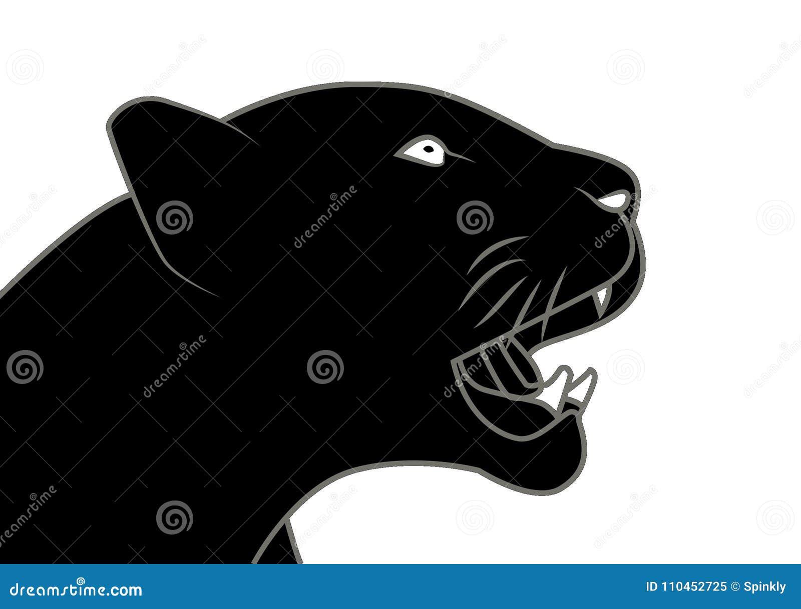 För gemkonst för svart panter illustration