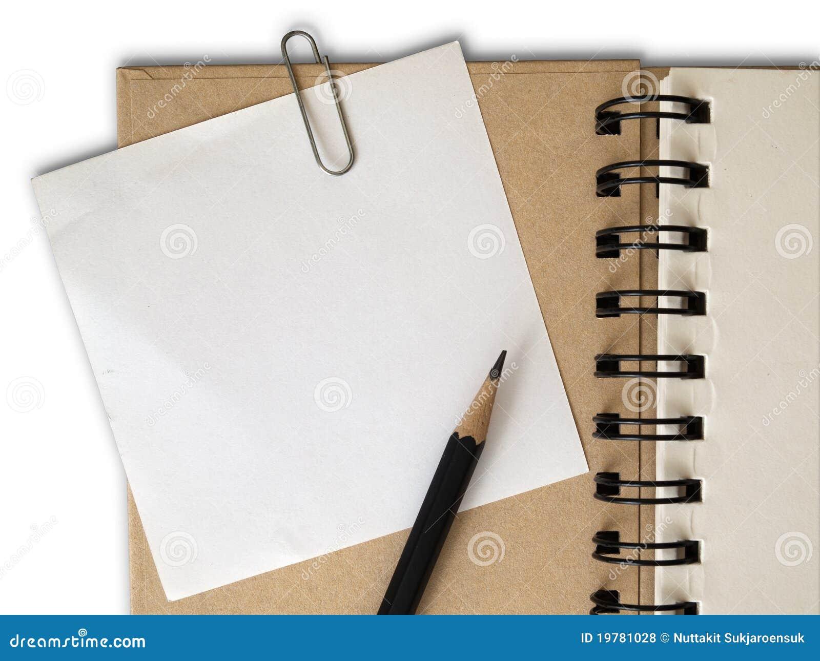 För gemräkning för bok brun white för papper för anmärkning