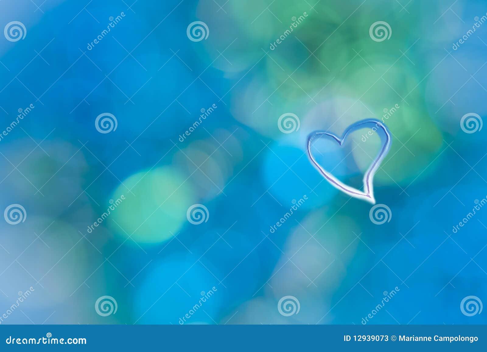 För grungehjärta för abstrakt bakgrund blå turkos