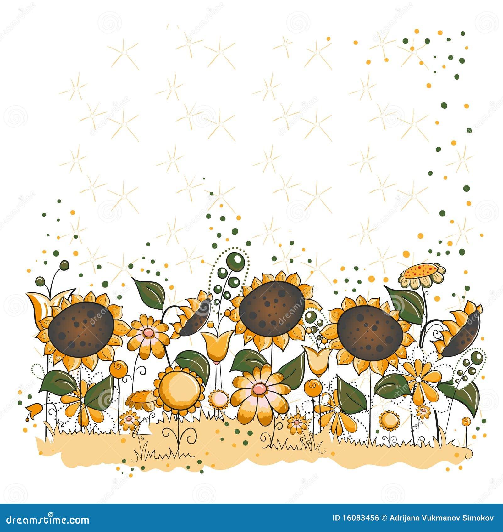 För halloween för kort trädgårds- tacksägelse solros