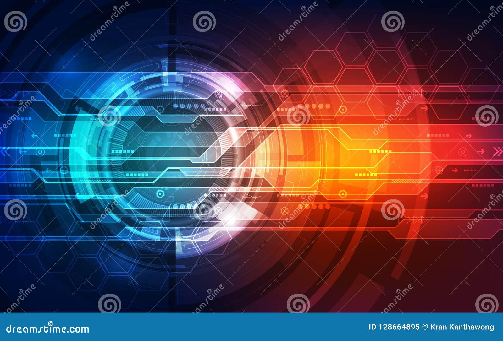 För hastighetsteknologi för vektor framtida digitalt begrepp, abstrakt bakgrundsillustration