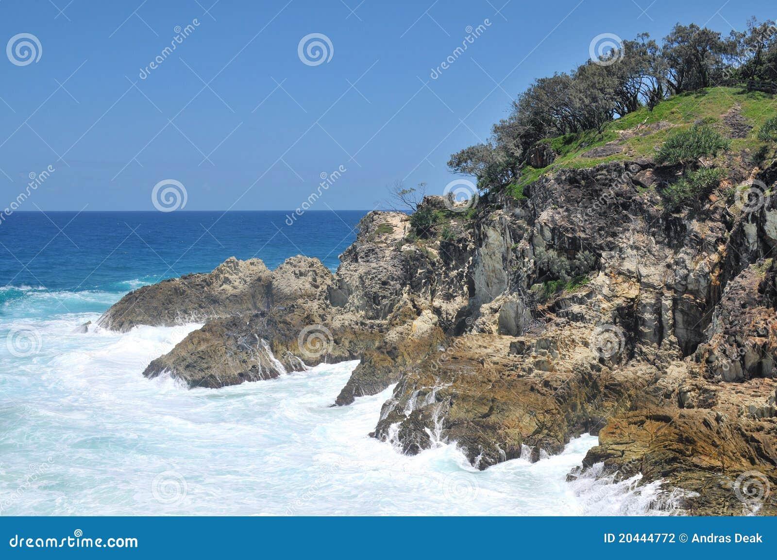 För havstradbroke för ö norr sikt