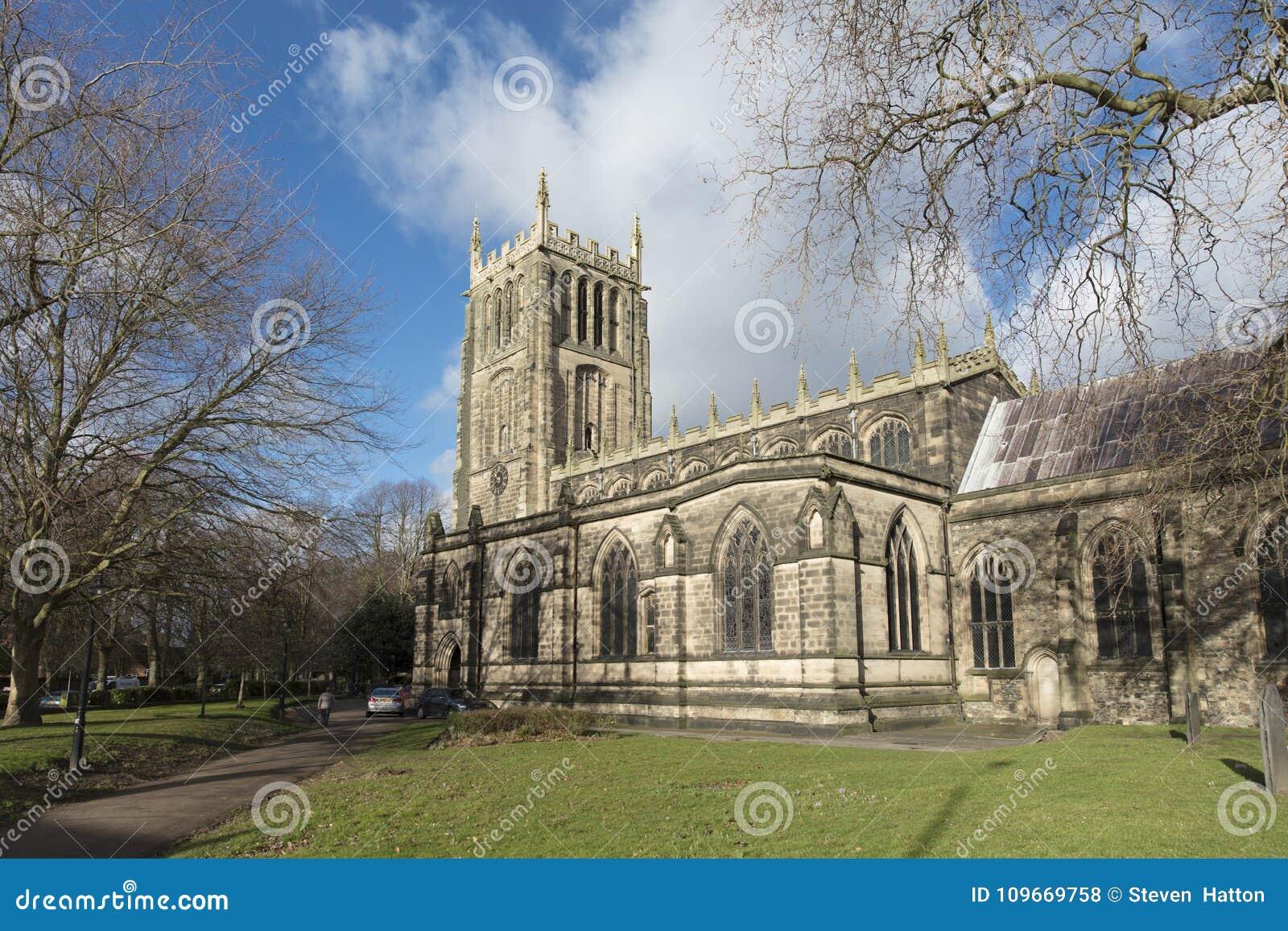 För helgonförsamling för yttersida allra kyrkan, Loughborough, Leiceste