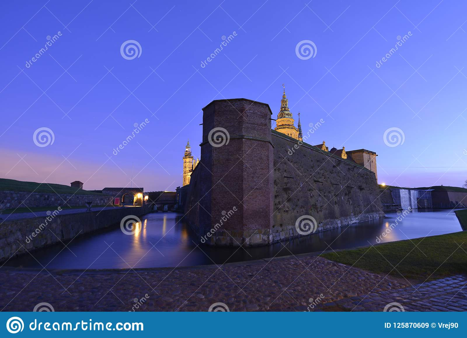 För helsingor för slottdenmark hamlet legendariskt ställe kronborg