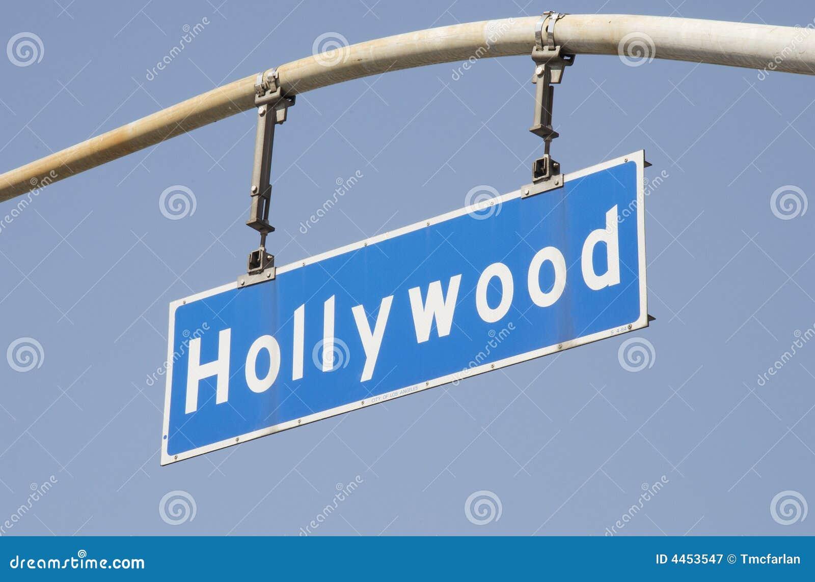 För hollywood för 2 blvd gata tecken