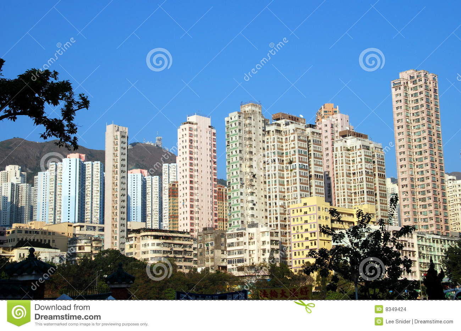 För Hong Kong för lägenhet höga torn stigning