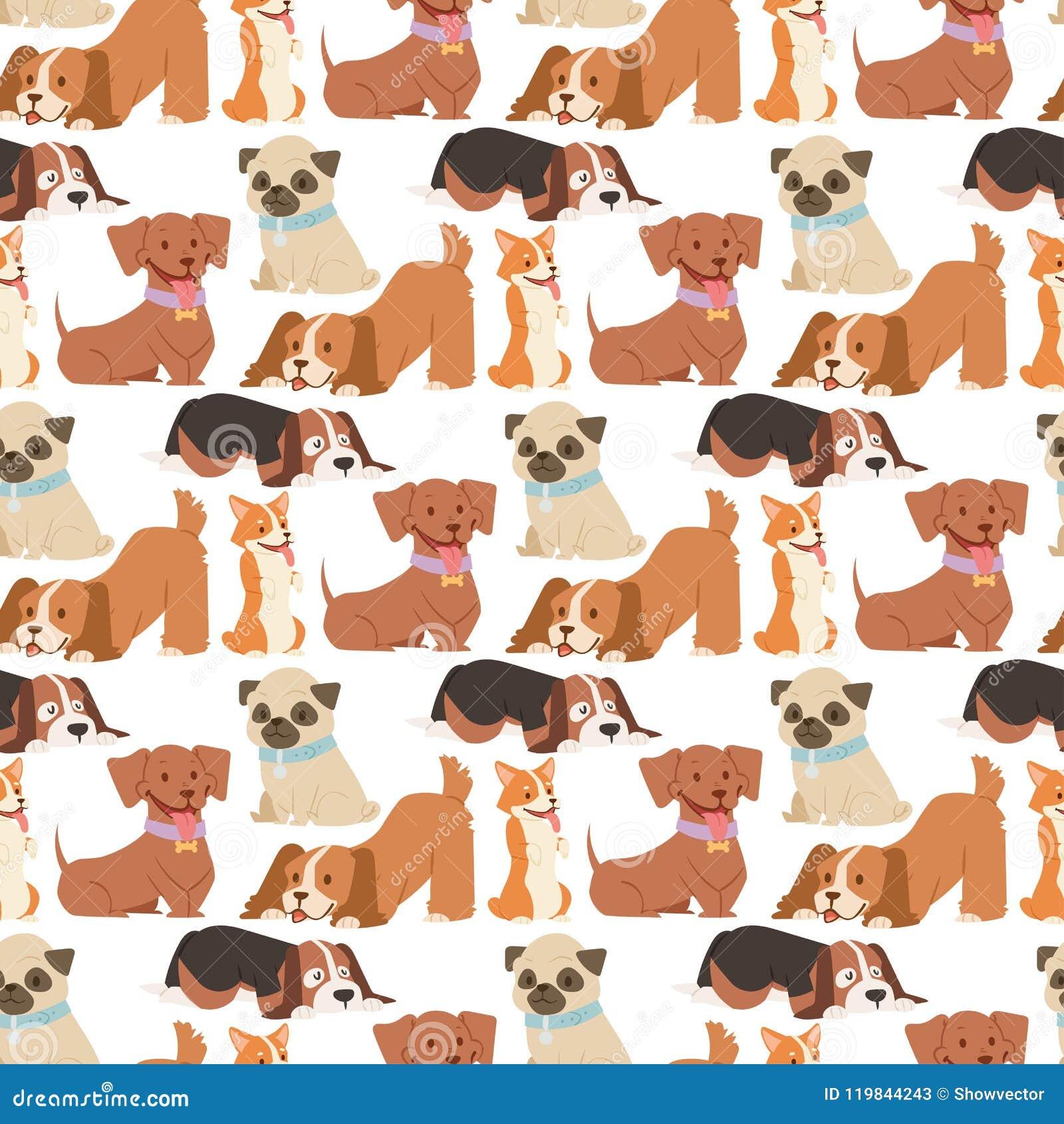 För hundkapplöpningtecken för valp gullig spela vektor för bakgrund för modell för rolig fullblods- komisk lycklig däggdjurs- ave