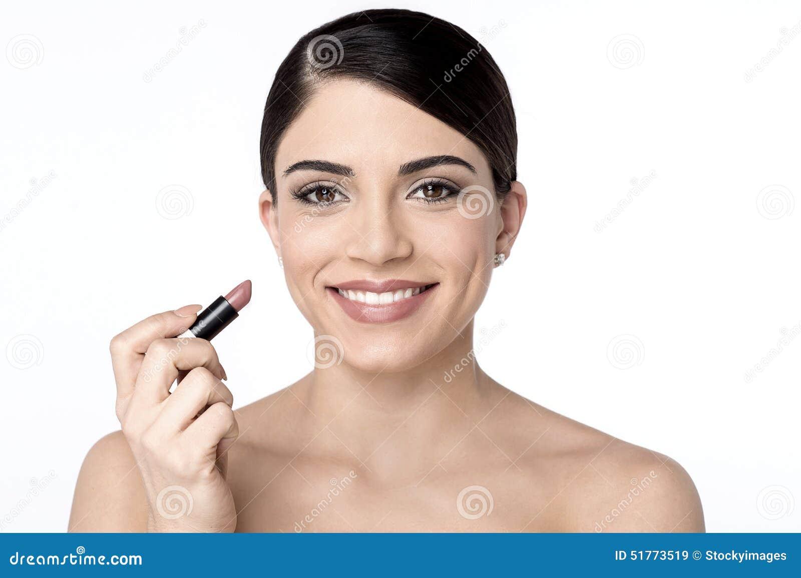 För illustrationläppstift för skönhet färgrik kvinna