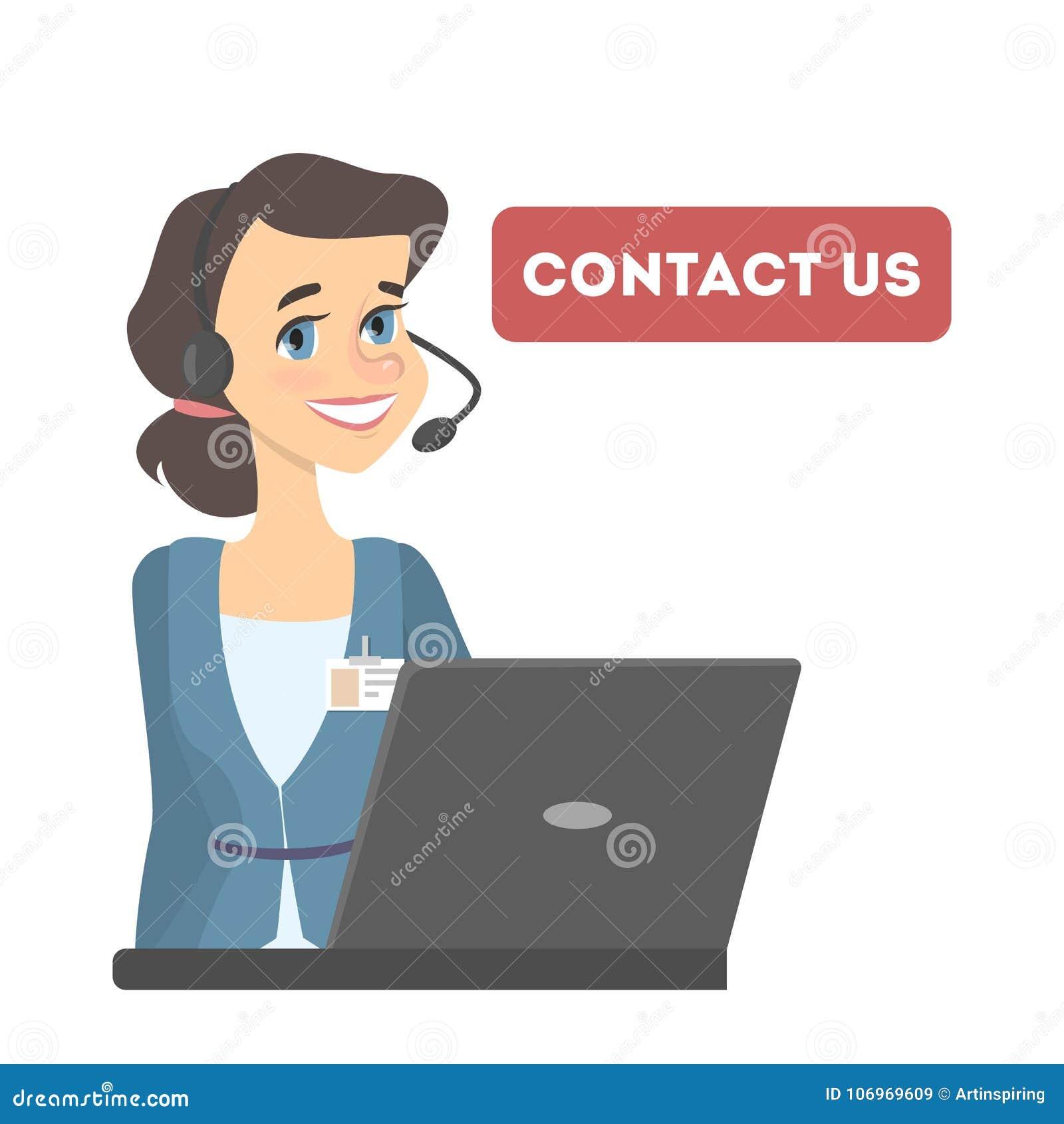 För illustrationpost för kontakt e mottagare för telefon oss