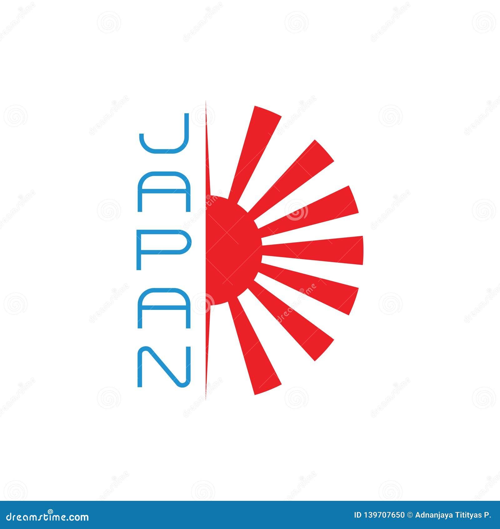 För Japan för skensolstrålar vektor för garnering symbol