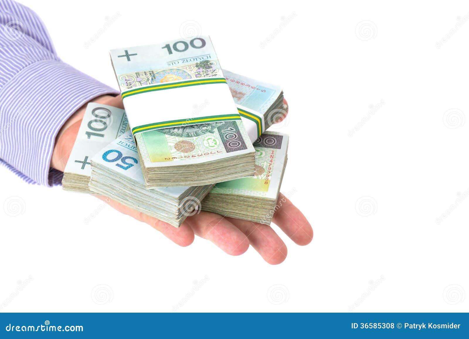 För kassa hand in som ett lånsymbol
