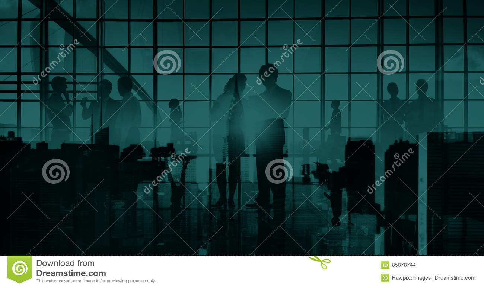 För kommunikationskontor för affär yrkesmässigt begrepp för Cityscape