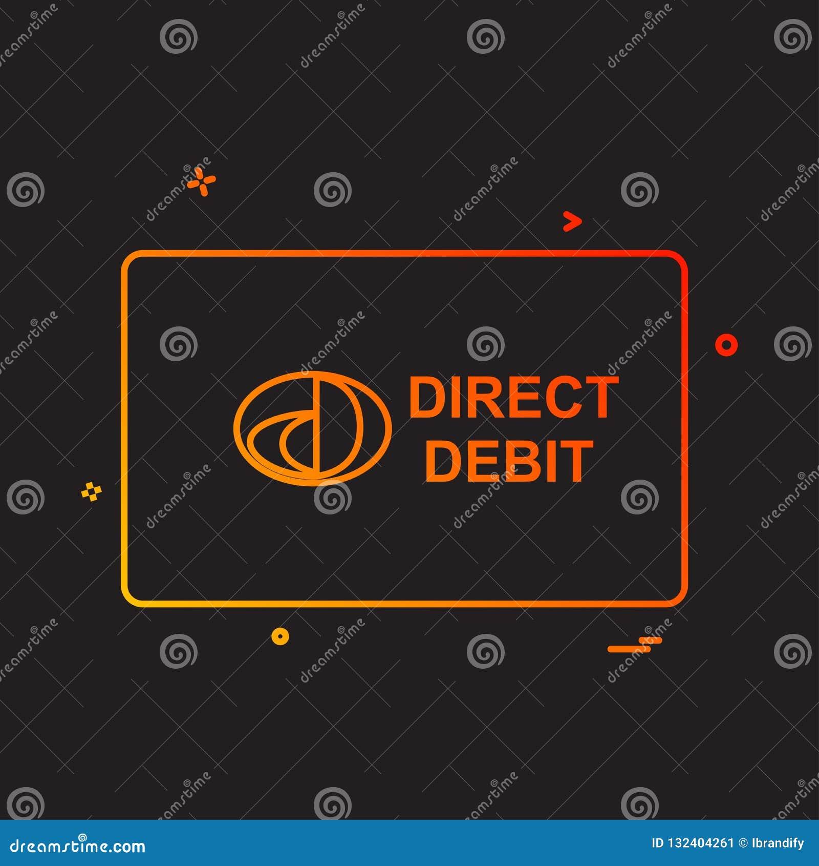 För kortdesign för direkt debitering vektor