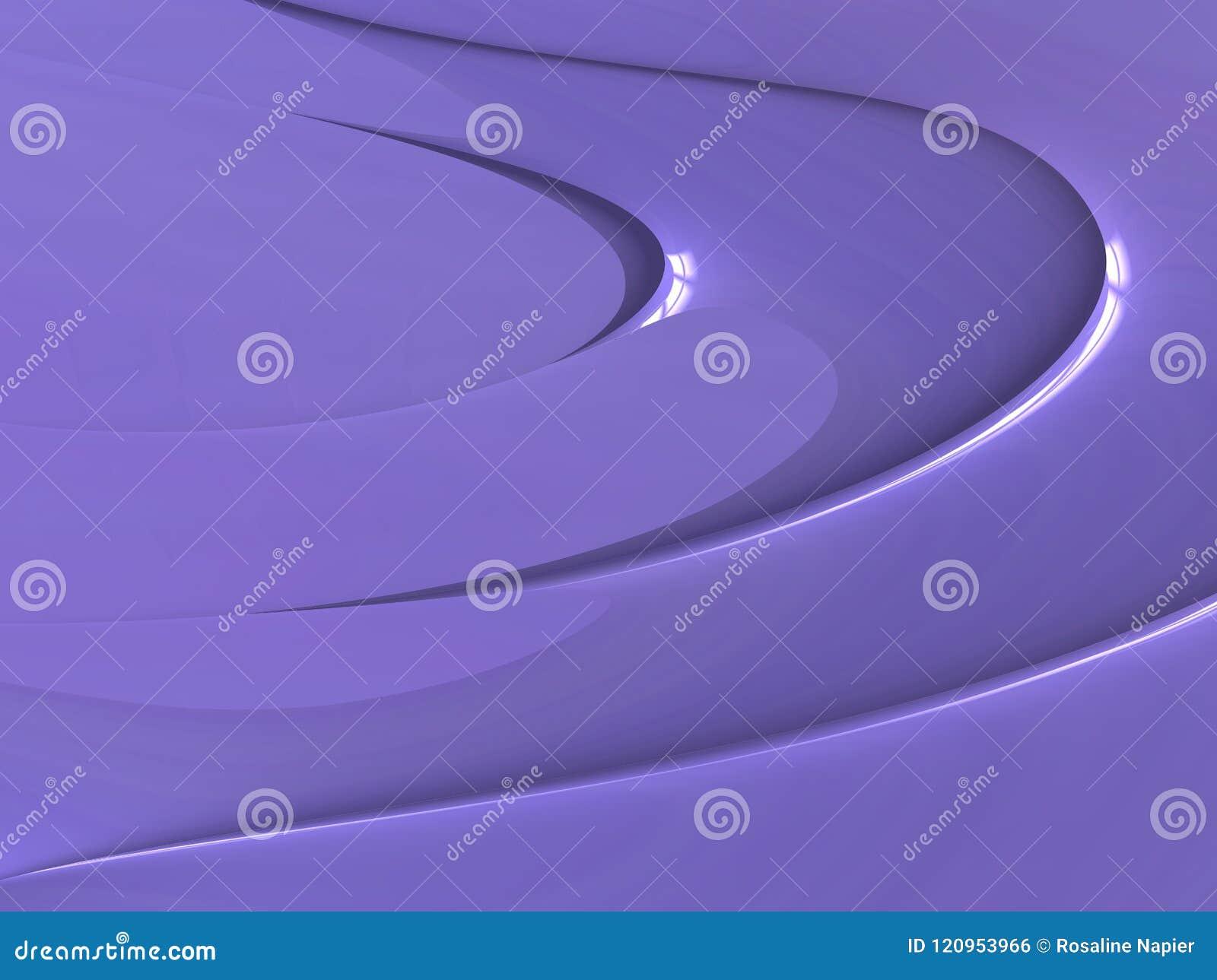 För kurvtapet för glans lila bakgrund