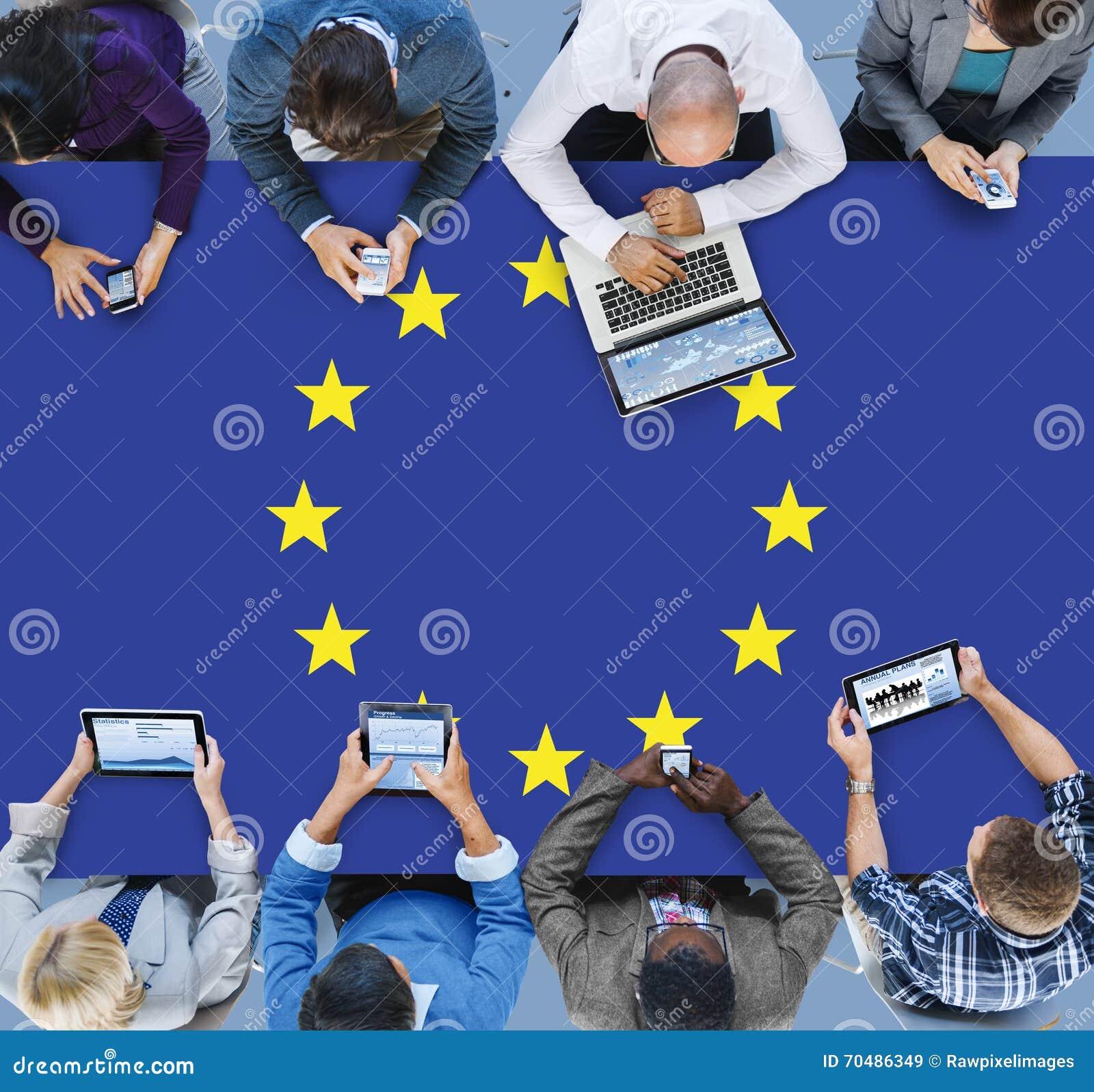 För landsflagga för europeisk union kultur Liberty Concept för nationalitet