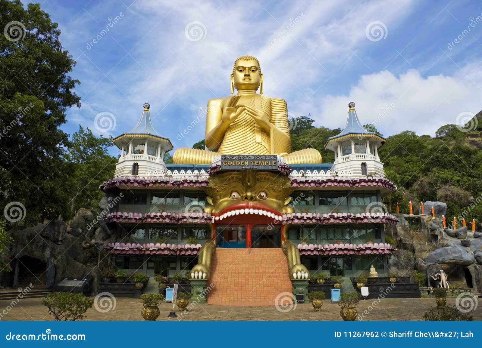 För lankasri för dambulla guld- tempel