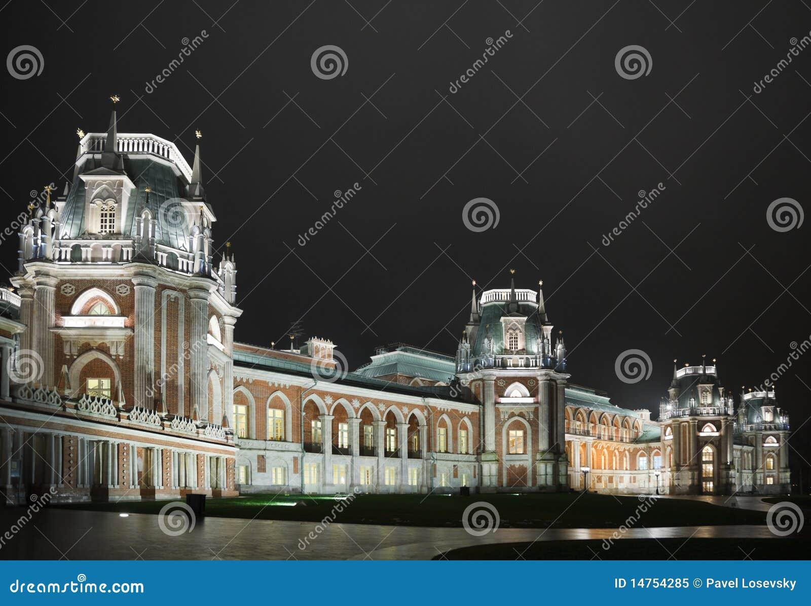 För lightingmuseum för slott historiskt tillstånd för natt